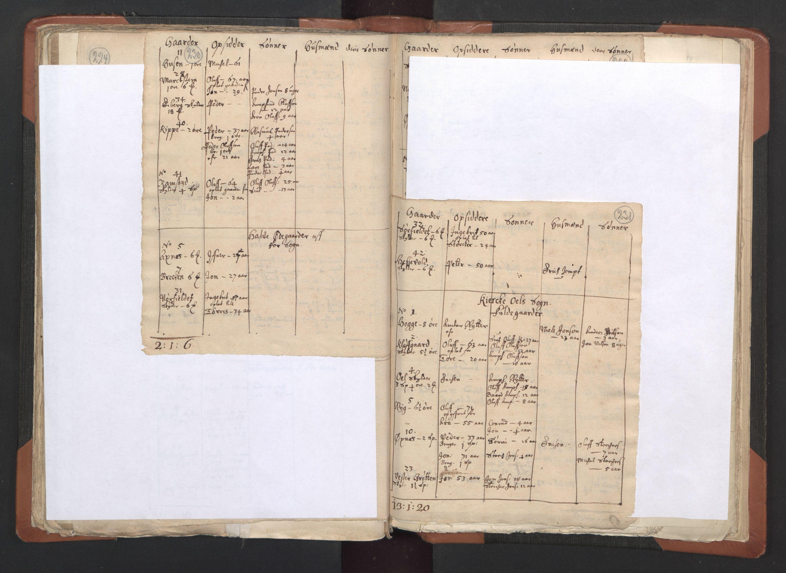 RA, Sogneprestenes manntall 1664-1666, nr. 33: Innherad prosti, 1664-1666, s. 230-231