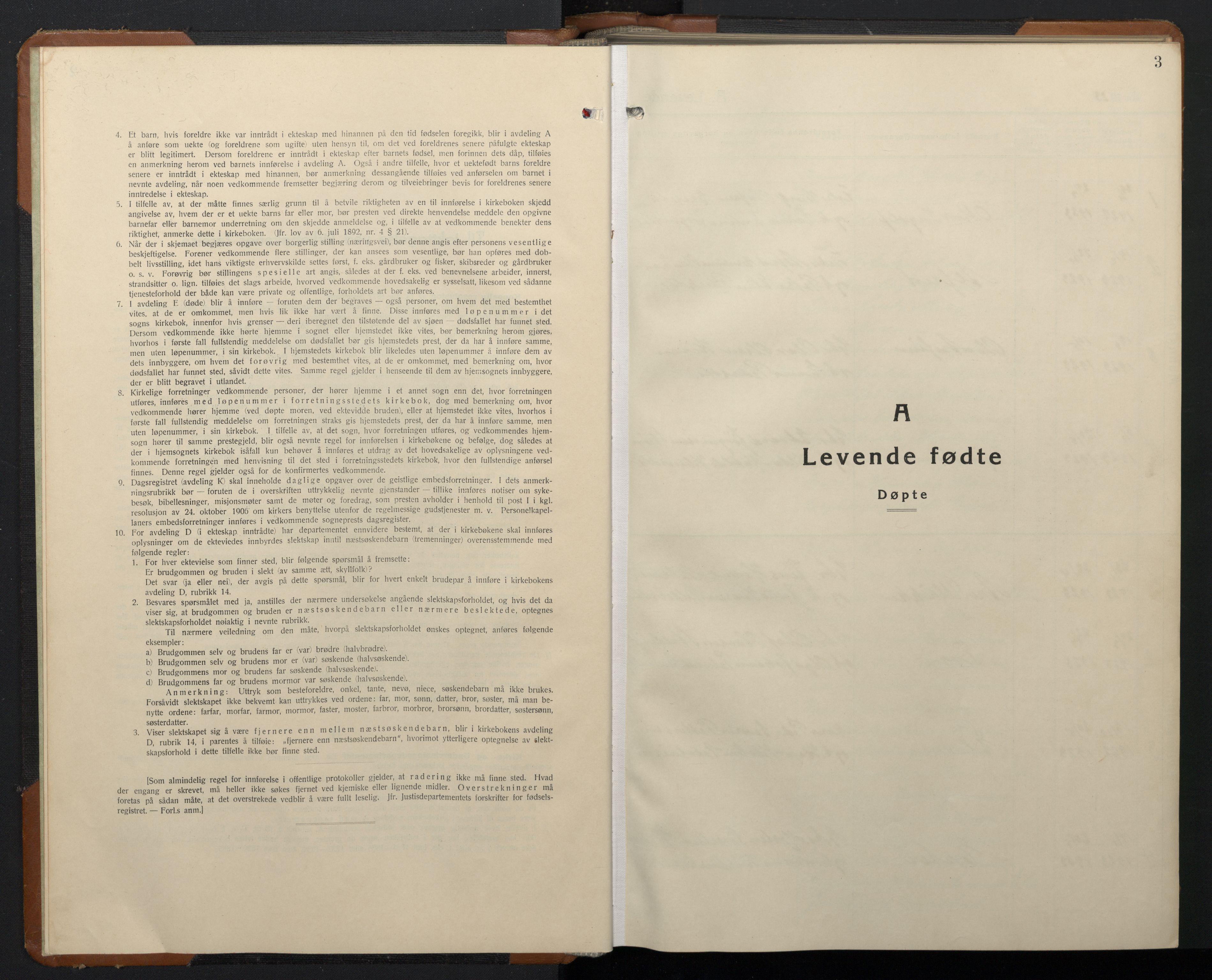 SAT, Ministerialprotokoller, klokkerbøker og fødselsregistre - Sør-Trøndelag, 657/L0718: Klokkerbok nr. 657C05, 1923-1948, s. 3