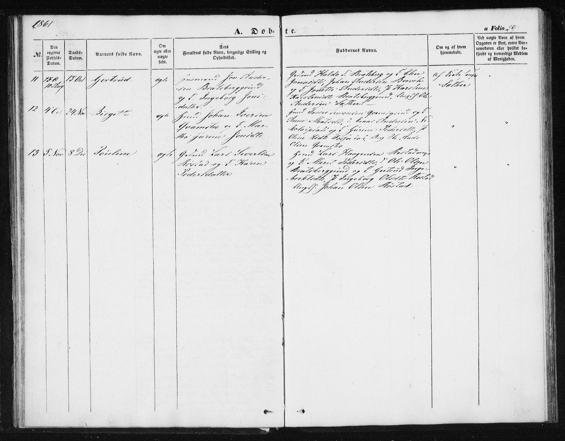 SAT, Ministerialprotokoller, klokkerbøker og fødselsregistre - Sør-Trøndelag, 608/L0332: Ministerialbok nr. 608A01, 1848-1861, s. 29