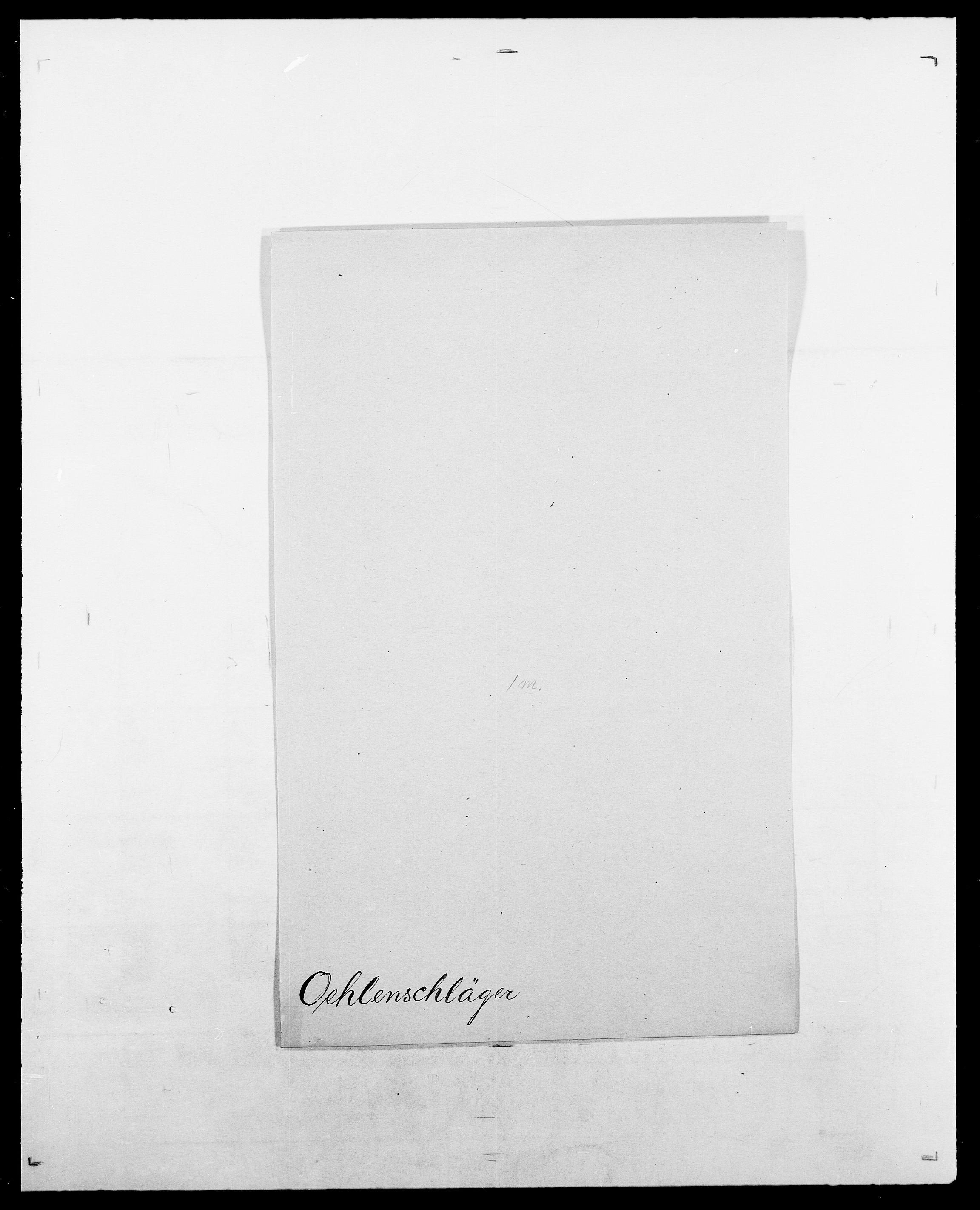 SAO, Delgobe, Charles Antoine - samling, D/Da/L0029: Obel - Oxholm, s. 21