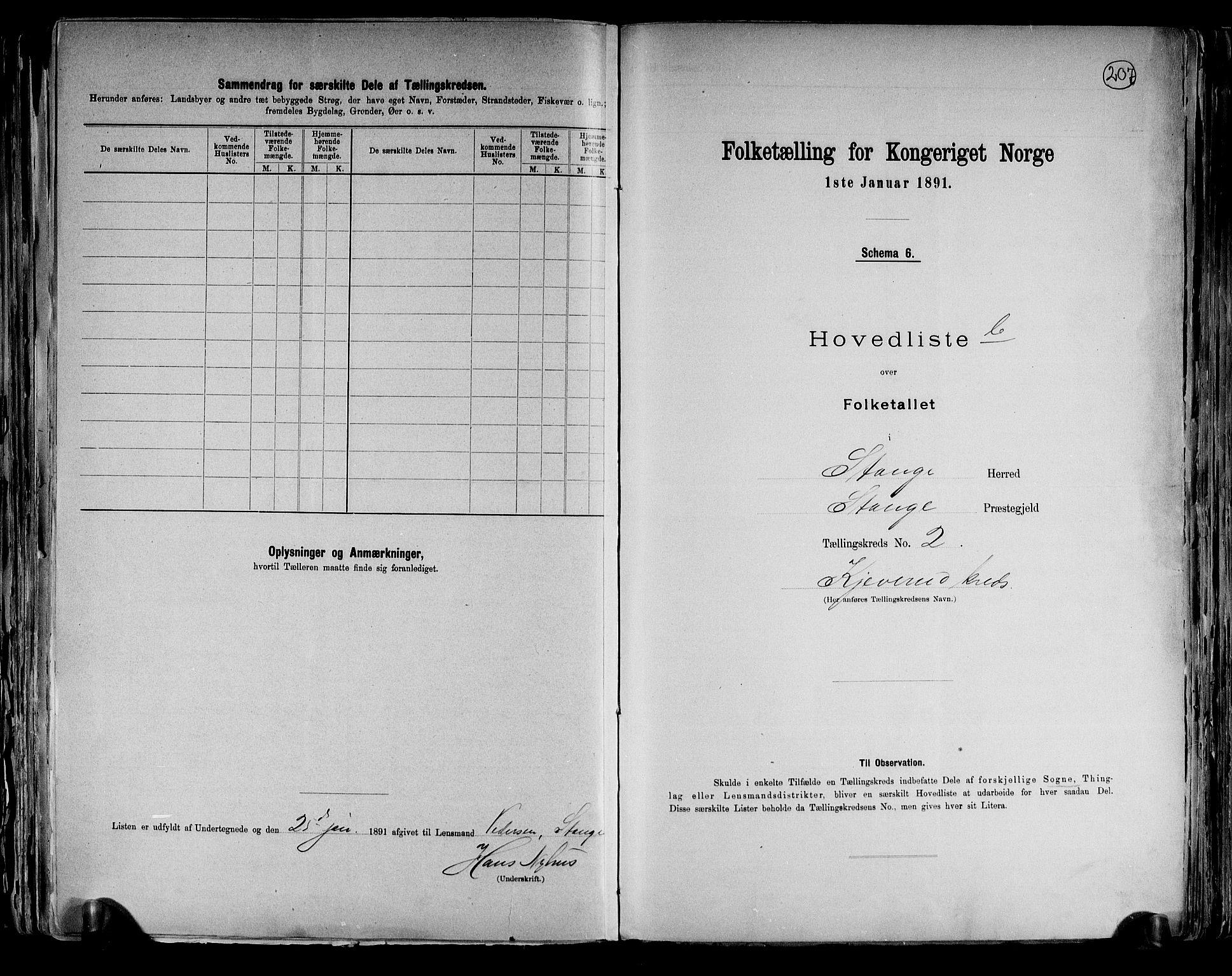 RA, Folketelling 1891 for 0417 Stange herred, 1891, s. 8