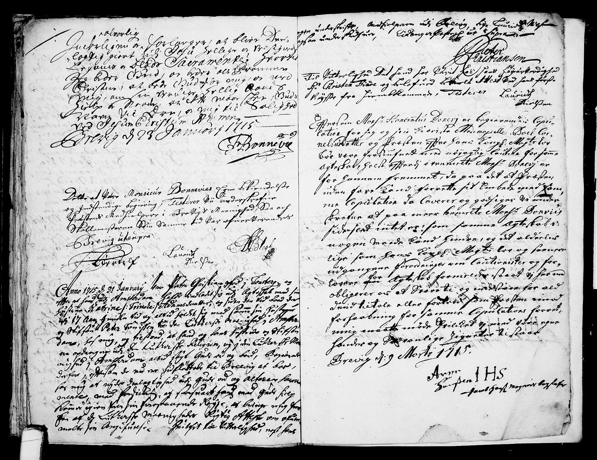SAKO, Eidanger kirkebøker, F/Fa/L0001: Ministerialbok nr. 1, 1695-1717, s. 38