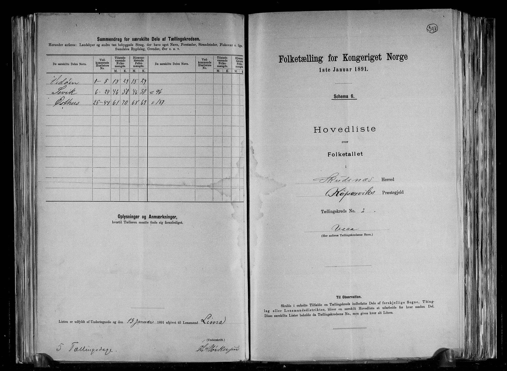 RA, Folketelling 1891 for 1150 Skudenes herred, 1891, s. 11