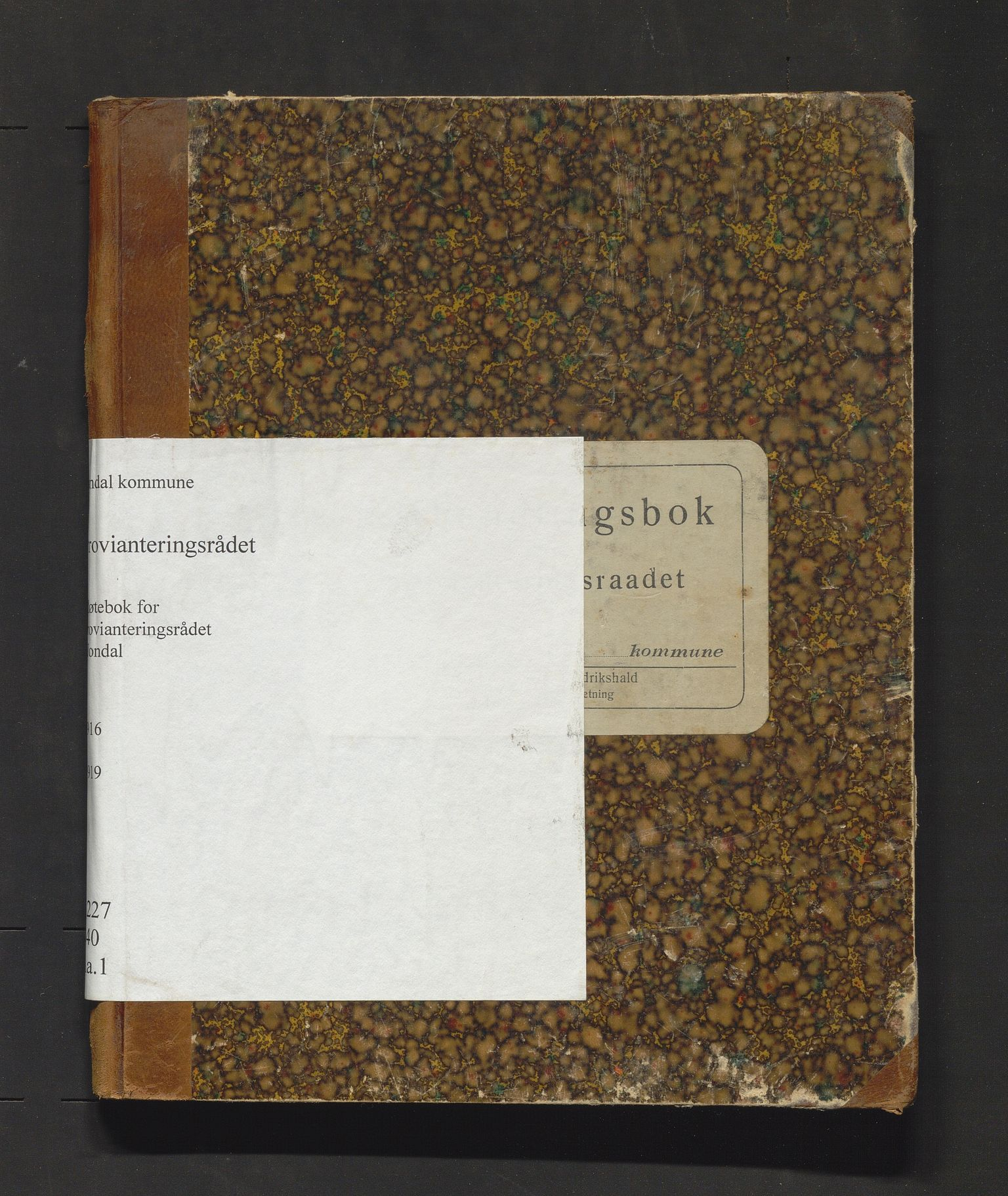 IKAH, Jondal kommune. Provianteringsrådet, A/Aa/L0001: Møtebok for Jondal provianteringsråd, 1916-1919