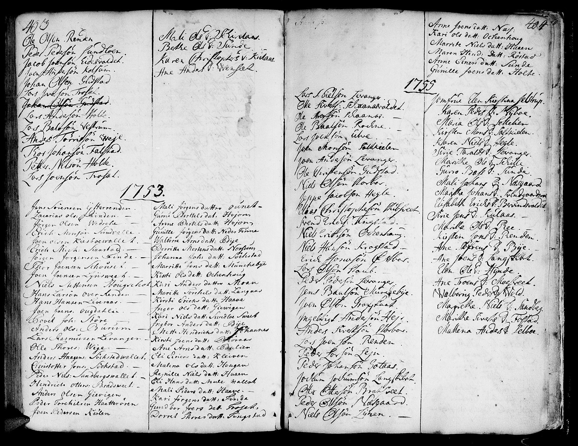 SAT, Ministerialprotokoller, klokkerbøker og fødselsregistre - Nord-Trøndelag, 717/L0141: Ministerialbok nr. 717A01, 1747-1803, s. 403-404