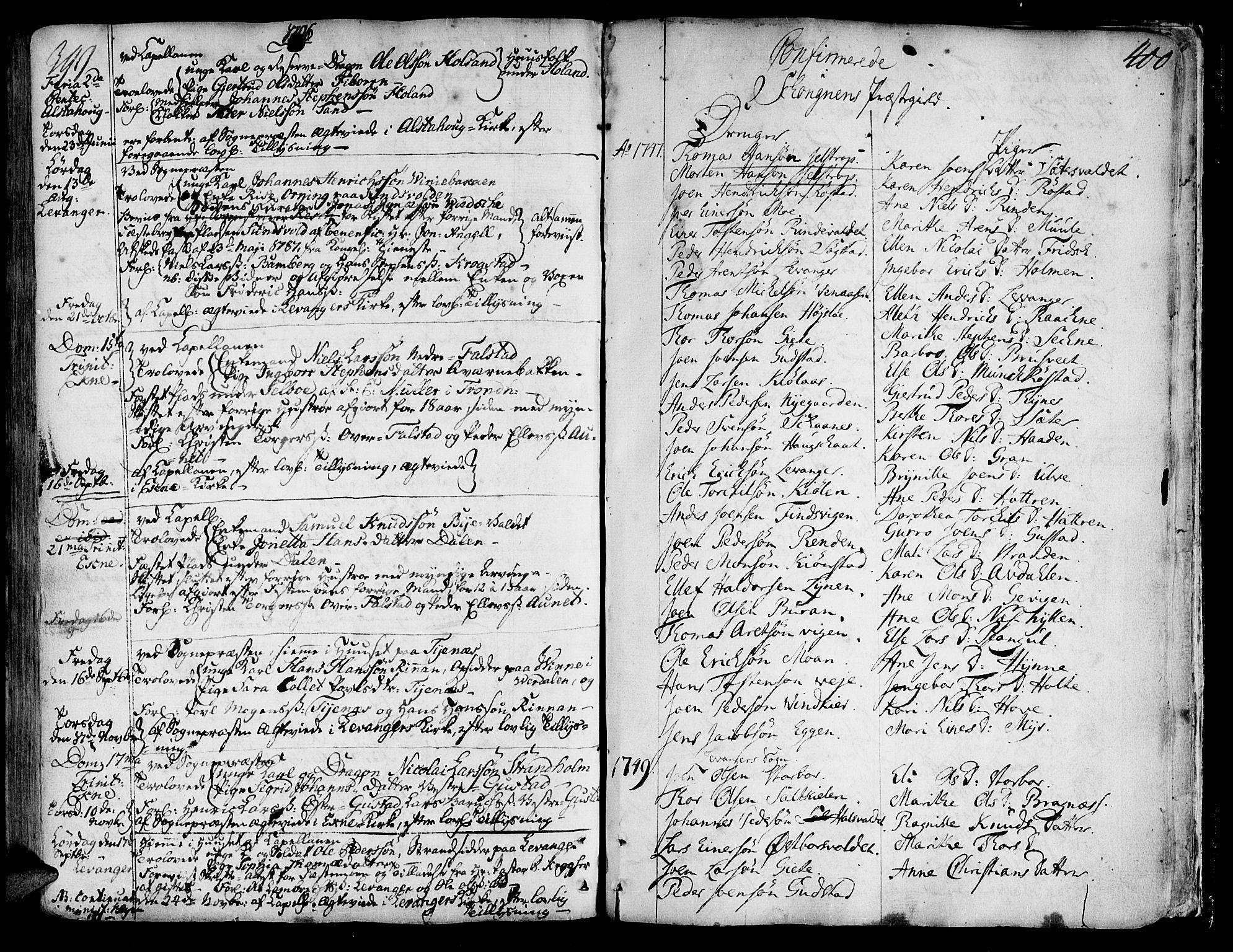 SAT, Ministerialprotokoller, klokkerbøker og fødselsregistre - Nord-Trøndelag, 717/L0141: Ministerialbok nr. 717A01, 1747-1803, s. 399-400