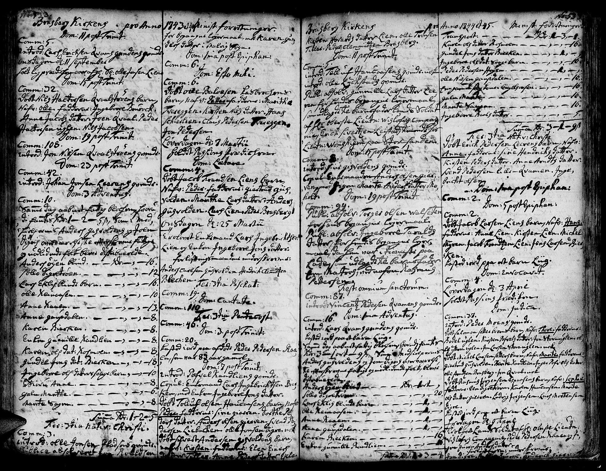 SAT, Ministerialprotokoller, klokkerbøker og fødselsregistre - Sør-Trøndelag, 606/L0278: Ministerialbok nr. 606A01 /4, 1727-1780, s. 532-533