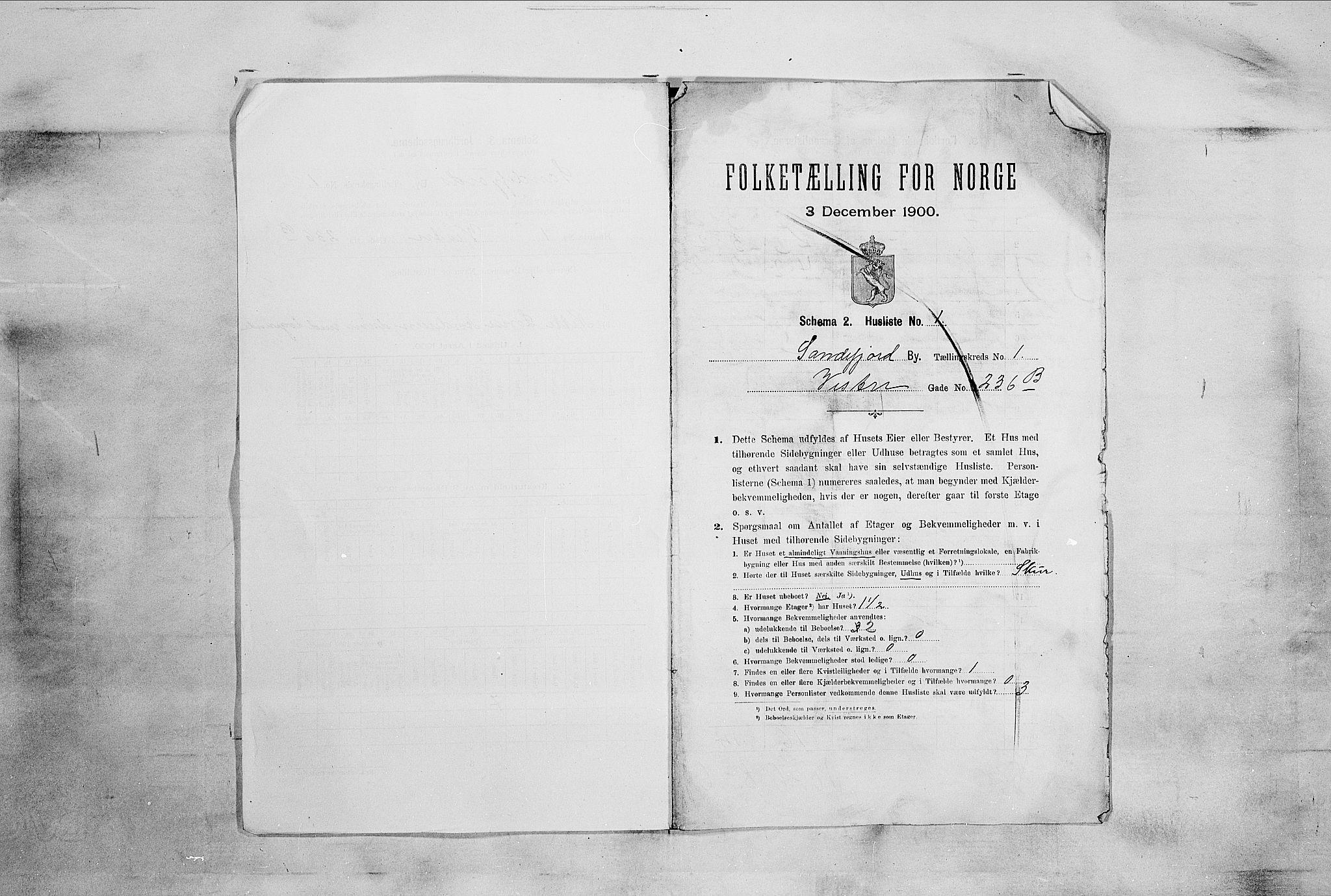 RA, Folketelling 1900 for 0706 Sandefjord kjøpstad, 1900, s. 28