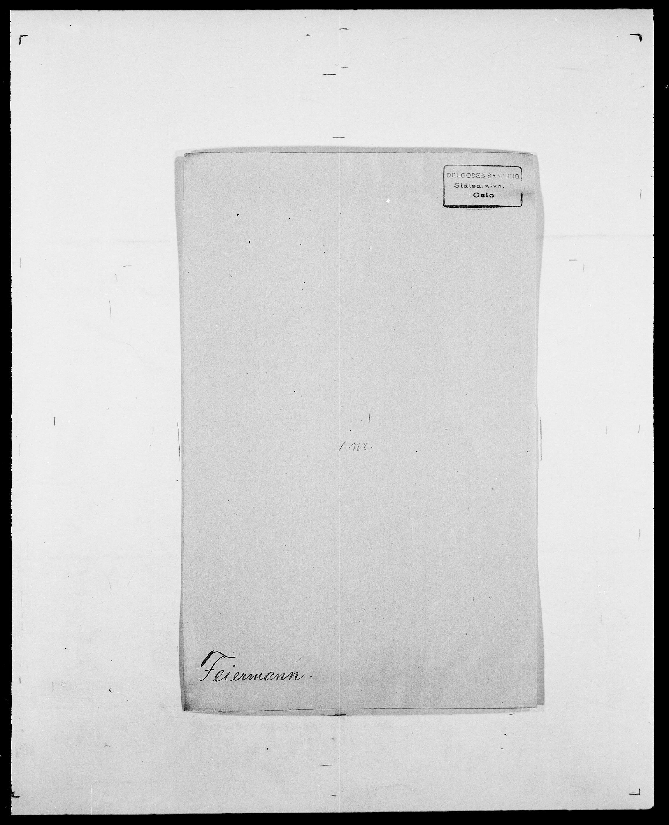 SAO, Delgobe, Charles Antoine - samling, D/Da/L0011: Fahlander - Flood, Flod, s. 312
