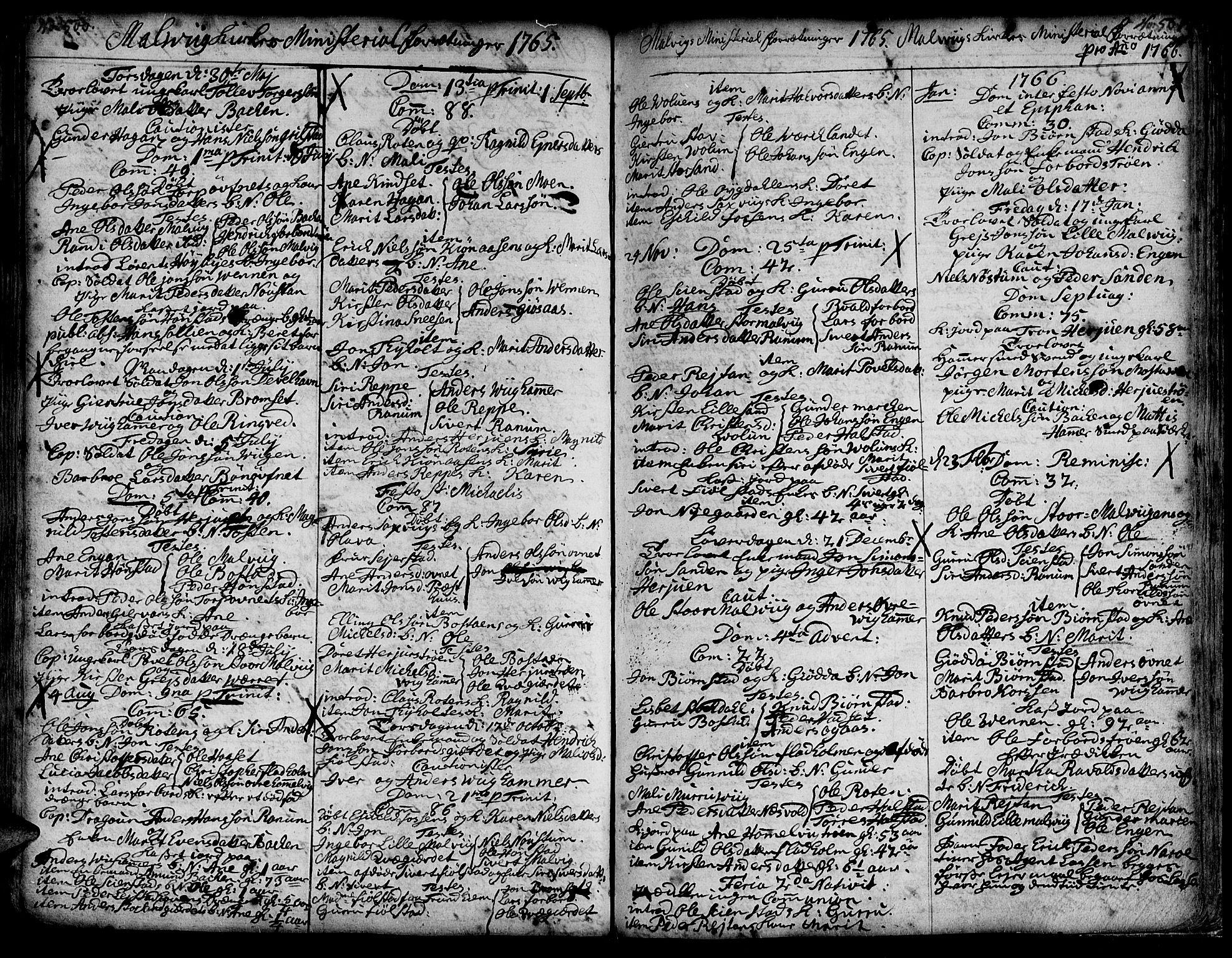 SAT, Ministerialprotokoller, klokkerbøker og fødselsregistre - Sør-Trøndelag, 606/L0277: Ministerialbok nr. 606A01 /3, 1727-1780, s. 500-501
