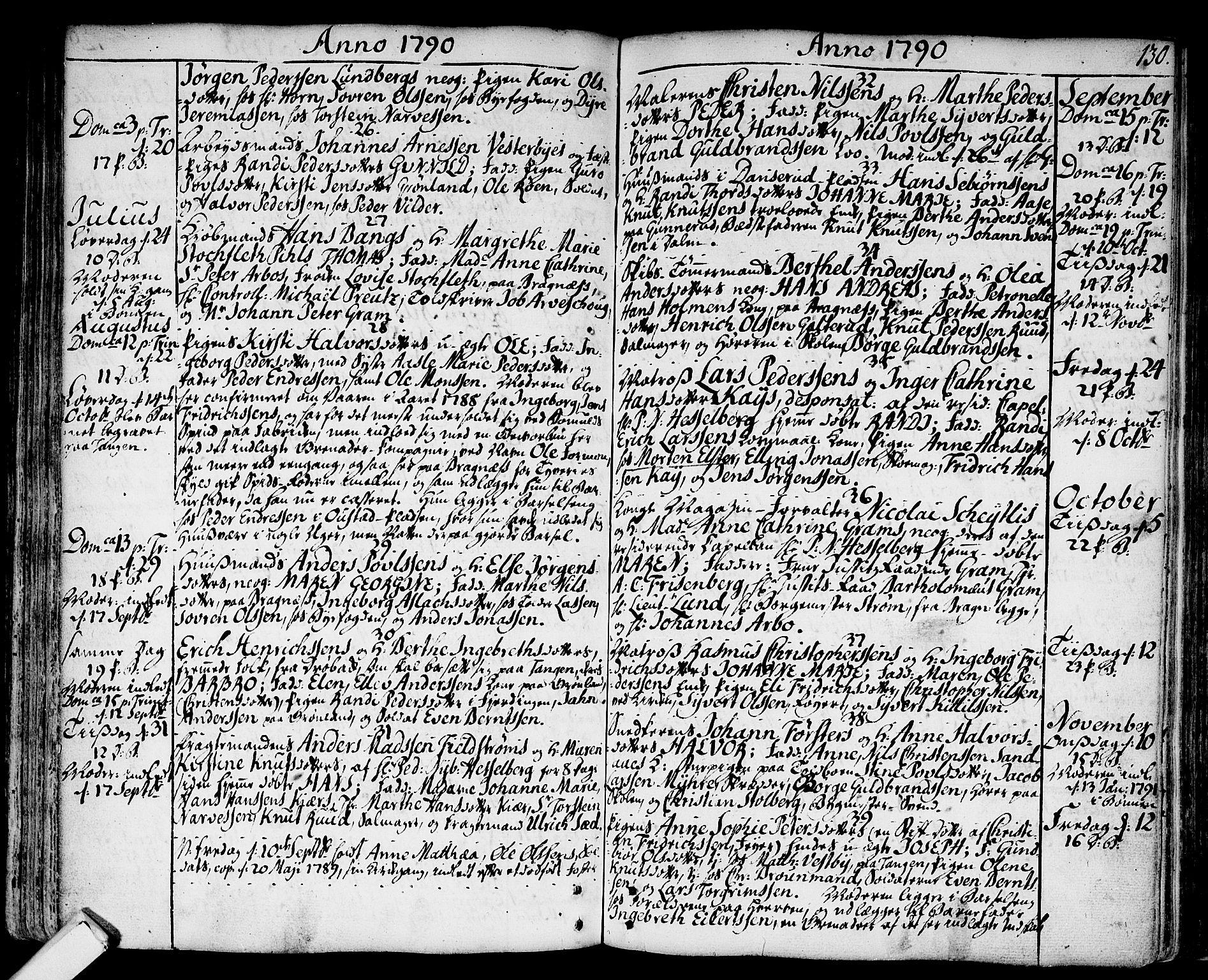 SAKO, Strømsø kirkebøker, F/Fa/L0009: Ministerialbok nr. I 9, 1752-1791, s. 130