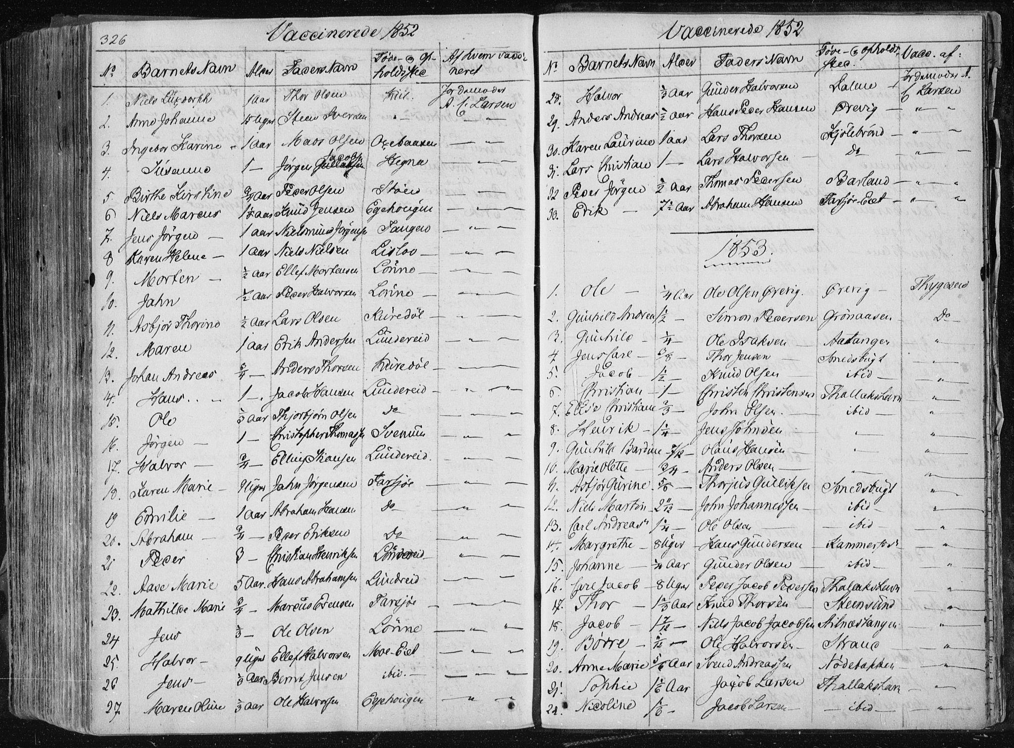 SAKO, Sannidal kirkebøker, F/Fa/L0007: Ministerialbok nr. 7, 1831-1854, s. 326