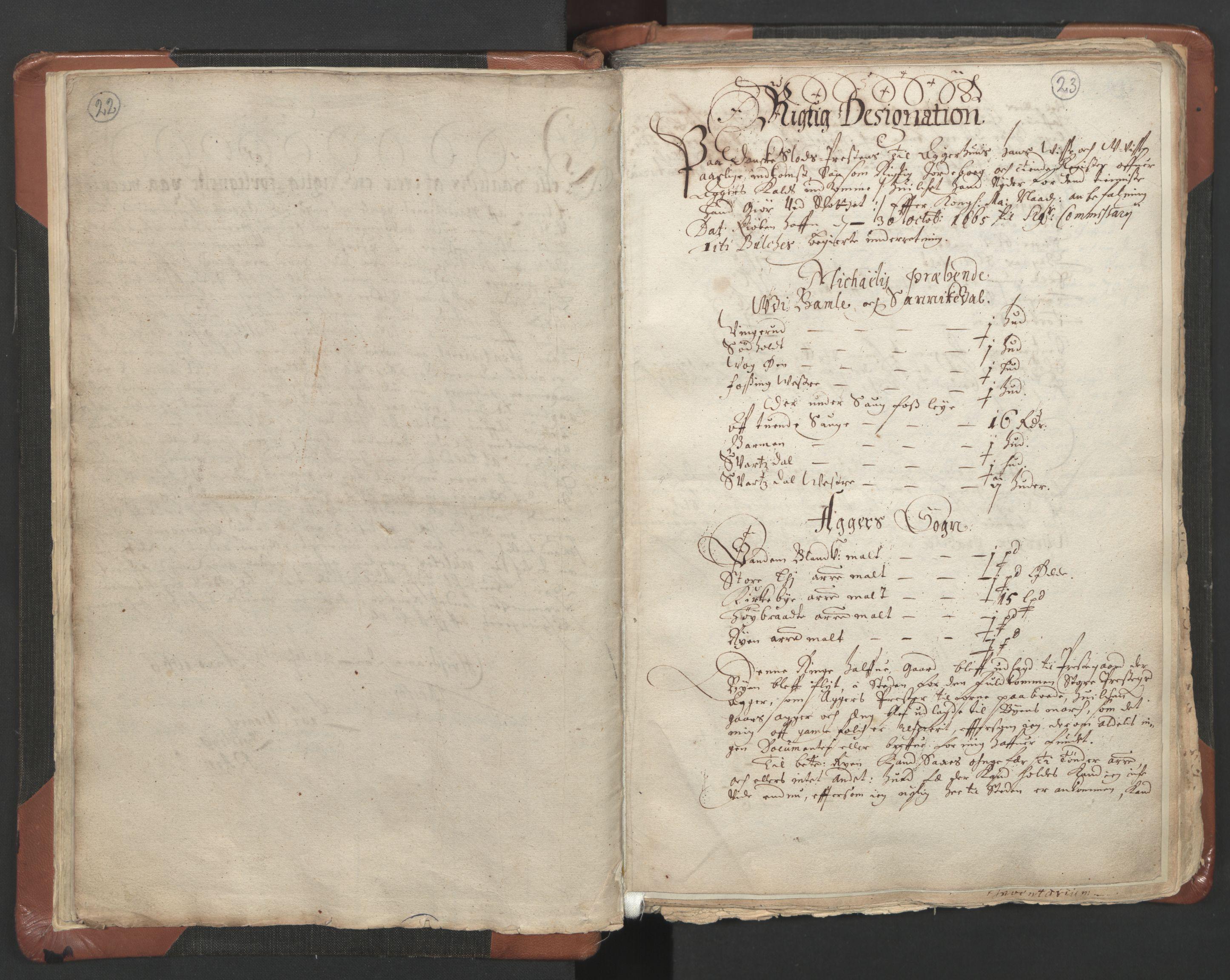 RA, Sogneprestenes manntall 1664-1666, nr. 9: Bragernes prosti, 1664-1666, s. 22-23