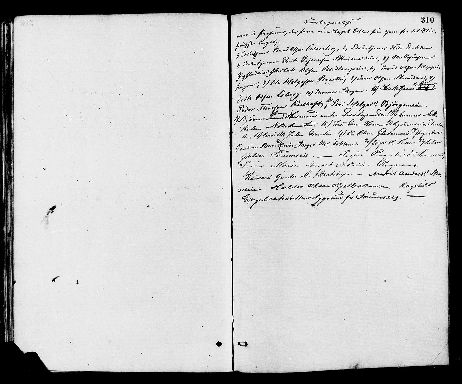 SAH, Nord-Aurdal prestekontor, Ministerialbok nr. 9, 1876-1882, s. 310