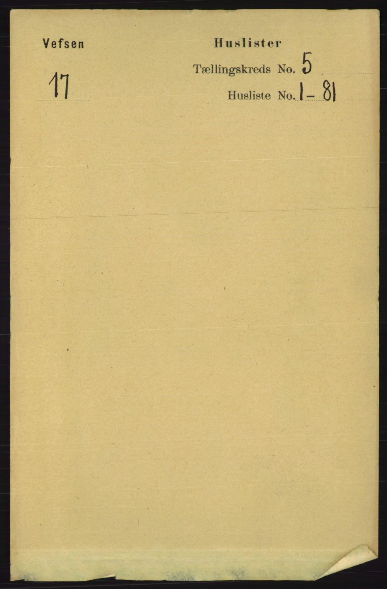 RA, Folketelling 1891 for 1824 Vefsn herred, 1891, s. 2001