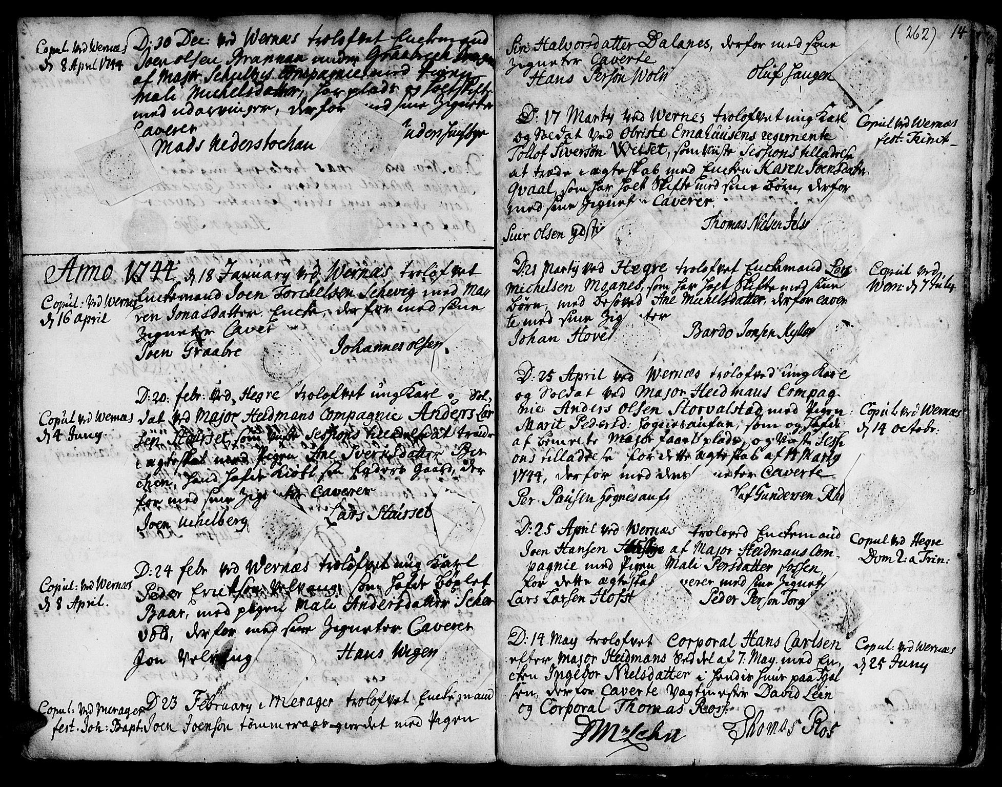 SAT, Ministerialprotokoller, klokkerbøker og fødselsregistre - Nord-Trøndelag, 709/L0056: Ministerialbok nr. 709A04, 1740-1756, s. 262