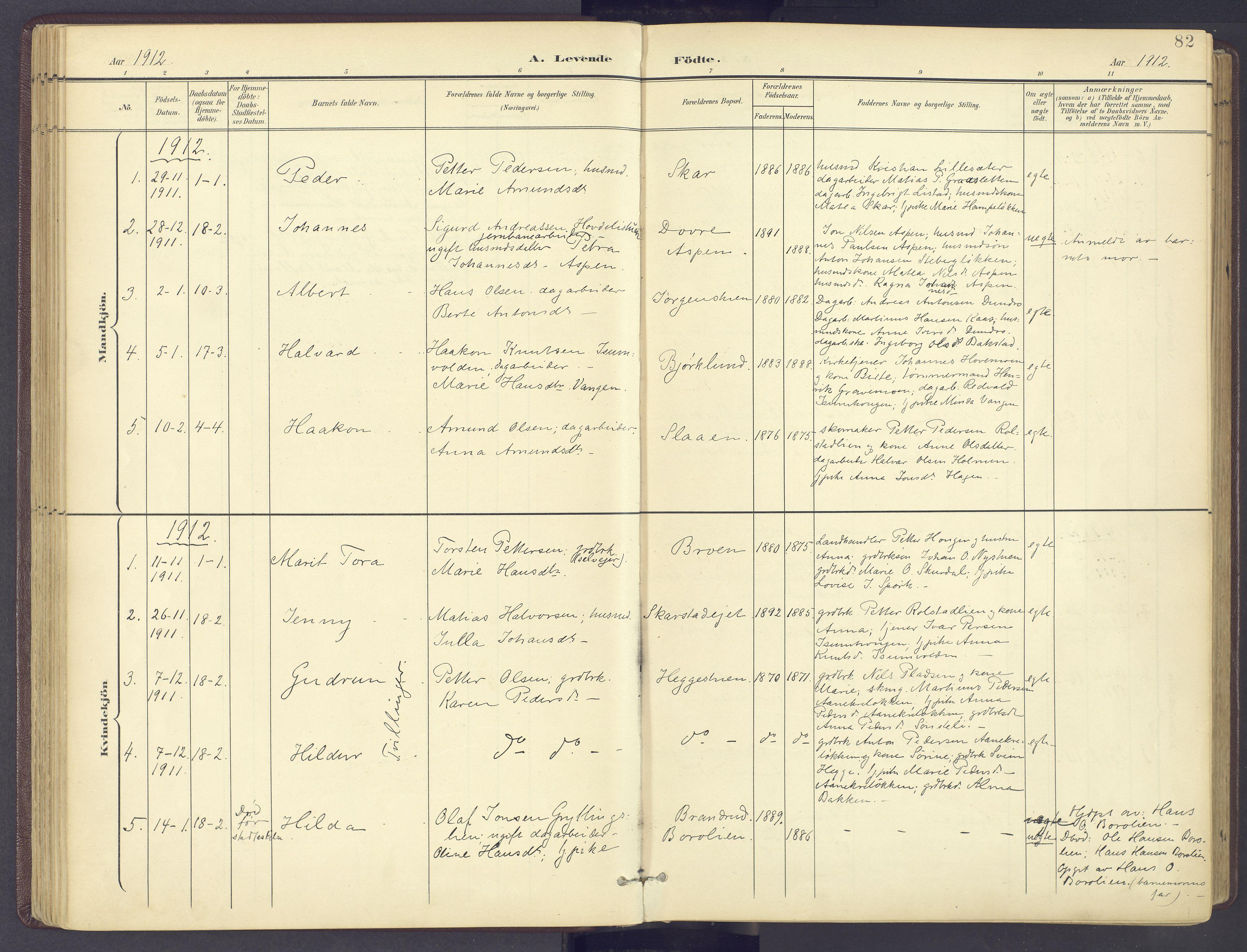SAH, Sør-Fron prestekontor, H/Ha/Haa/L0004: Ministerialbok nr. 4, 1898-1919, s. 82