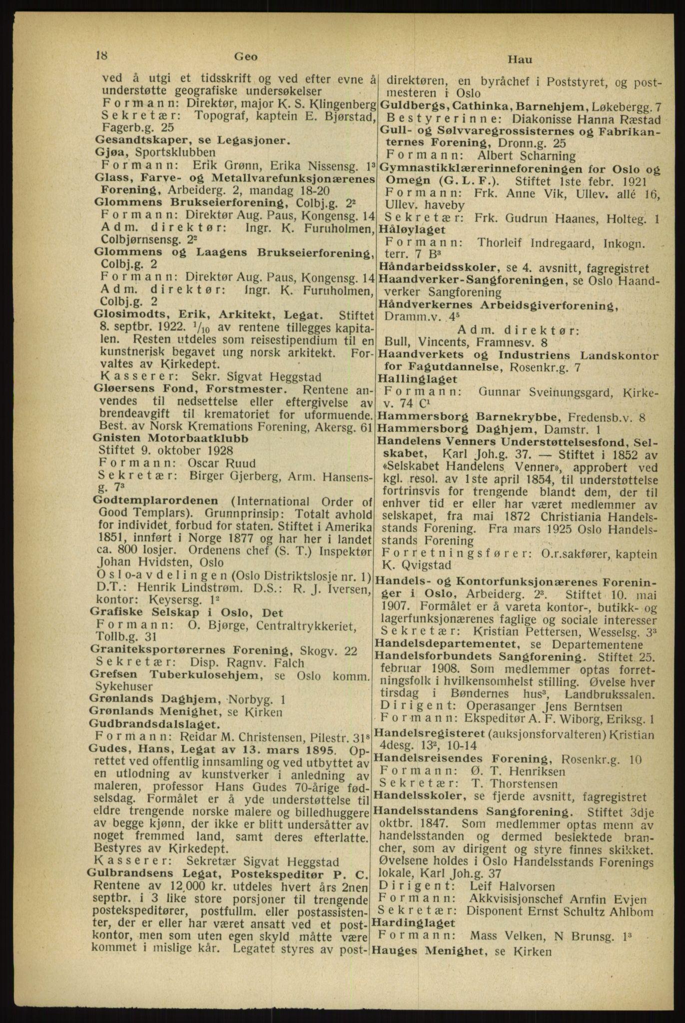 RA, Oslo adressebok (publikasjon)*, 1933, s. 18