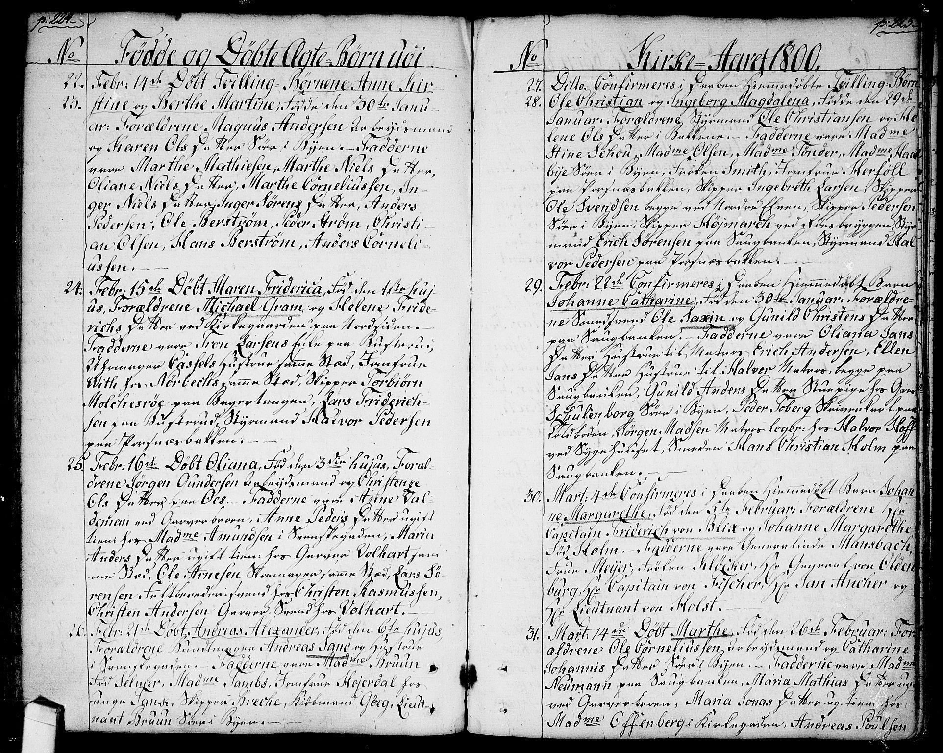 SAO, Halden prestekontor Kirkebøker, F/Fa/L0002: Ministerialbok nr. I 2, 1792-1812, s. 224-225