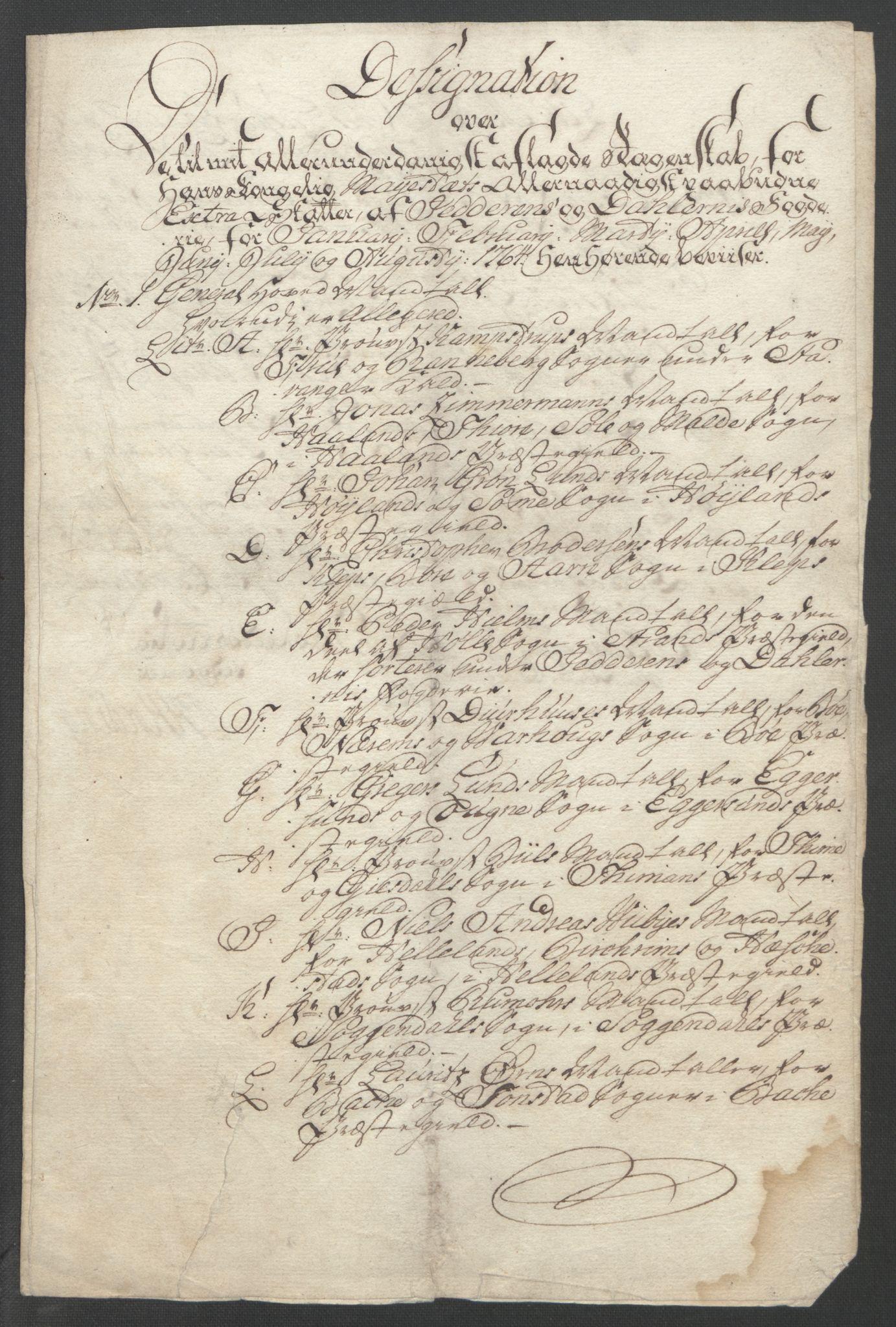 RA, Rentekammeret inntil 1814, Reviderte regnskaper, Fogderegnskap, R46/L2835: Ekstraskatten Jæren og Dalane, 1762-1764, s. 150