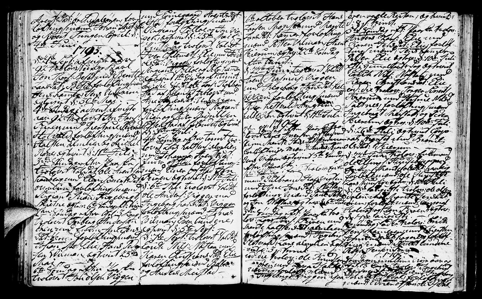 SAT, Ministerialprotokoller, klokkerbøker og fødselsregistre - Sør-Trøndelag, 665/L0768: Ministerialbok nr. 665A03, 1754-1803, s. 134