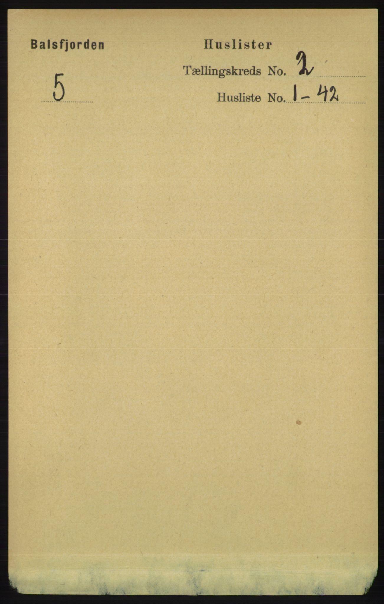 RA, Folketelling 1891 for 1933 Balsfjord herred, 1891, s. 475