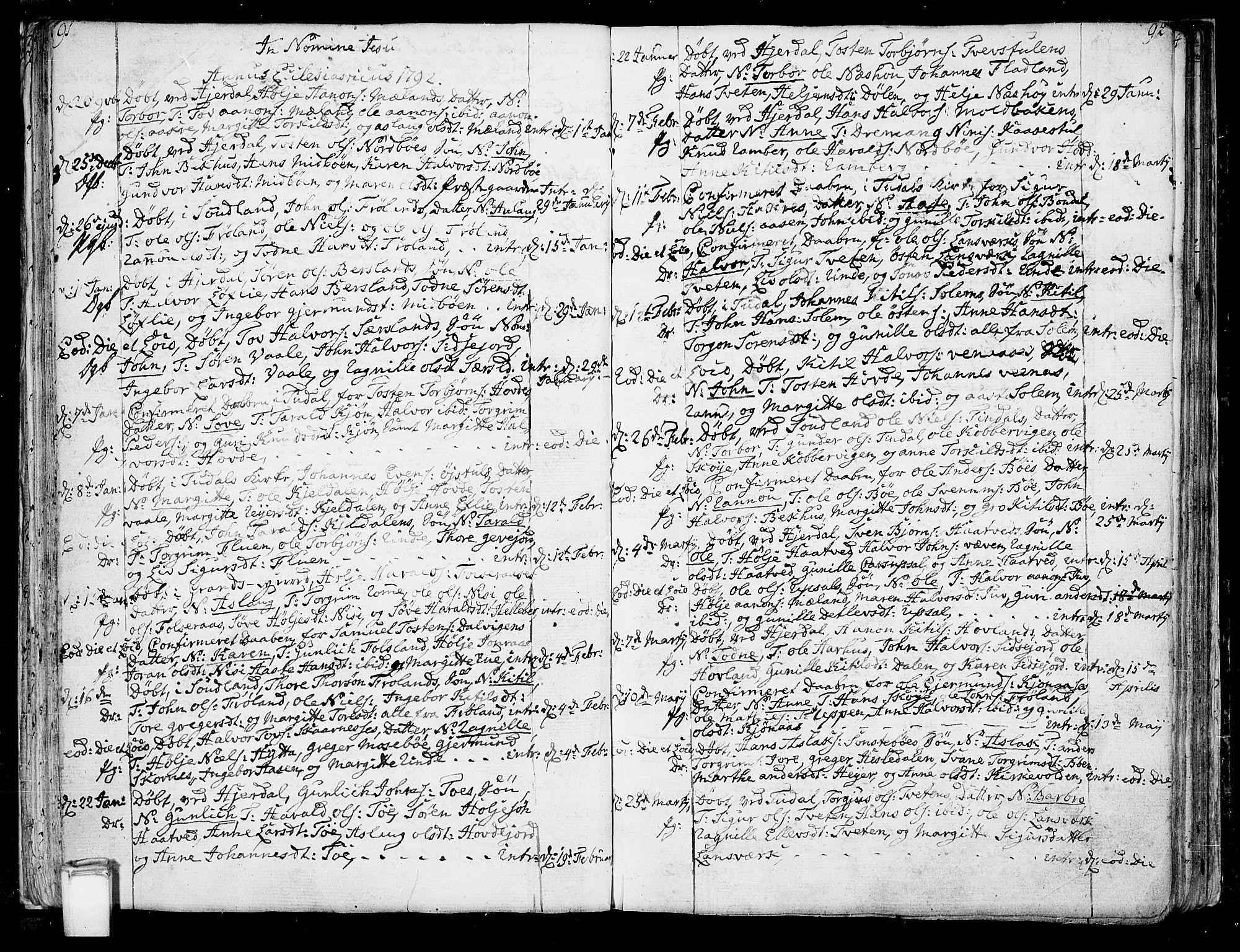 SAKO, Hjartdal kirkebøker, F/Fa/L0005: Ministerialbok nr. I 5, 1776-1801, s. 91-92