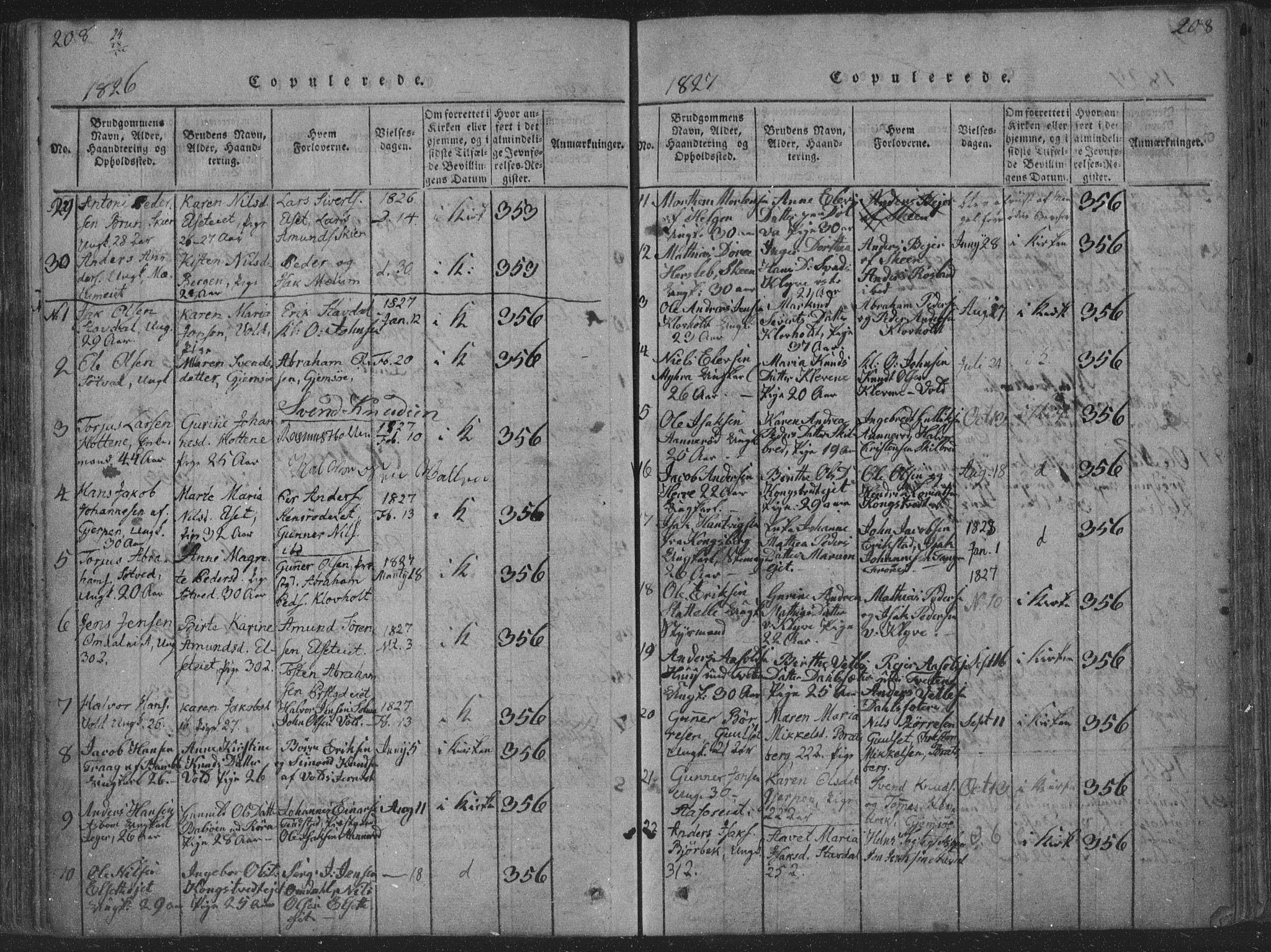 SAKO, Solum kirkebøker, F/Fa/L0004: Ministerialbok nr. I 4, 1814-1833, s. 208