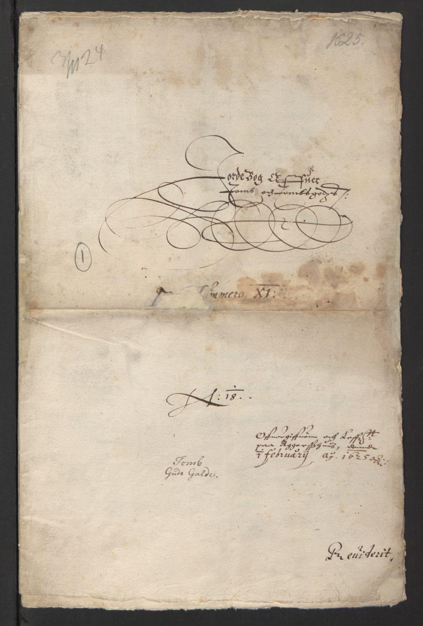RA, Stattholderembetet 1572-1771, Ek/L0007: Jordebøker til utlikning av rosstjeneste 1624-1626:, 1624-1625, s. 273