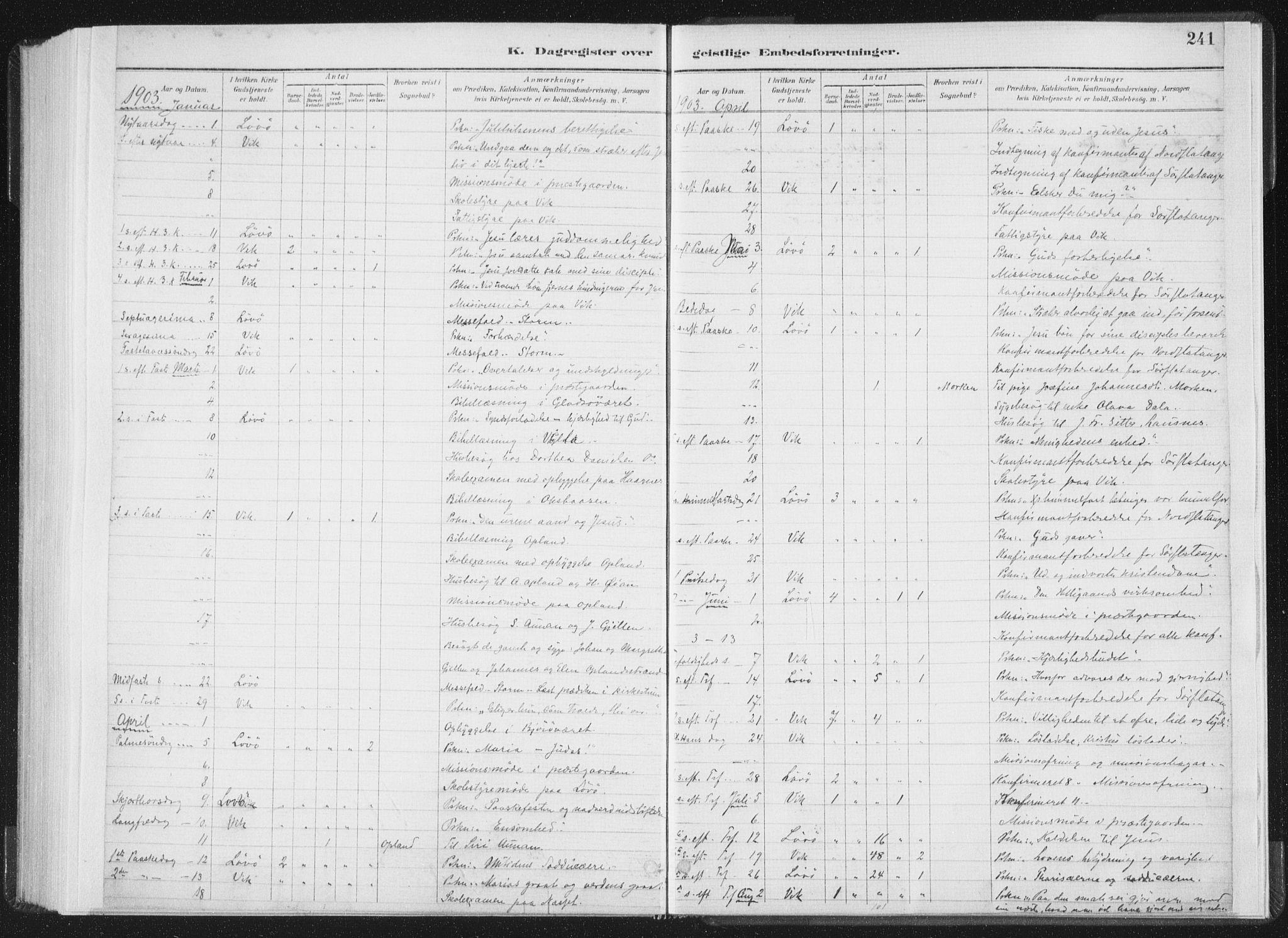 SAT, Ministerialprotokoller, klokkerbøker og fødselsregistre - Nord-Trøndelag, 771/L0597: Ministerialbok nr. 771A04, 1885-1910, s. 241