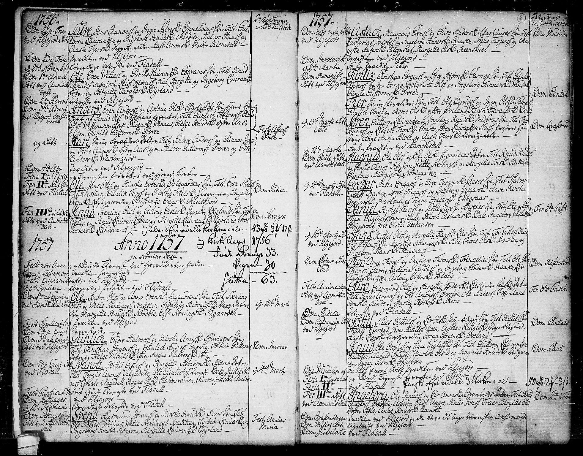 SAKO, Seljord kirkebøker, F/Fa/L0007: Ministerialbok nr. I 7, 1755-1800, s. 6