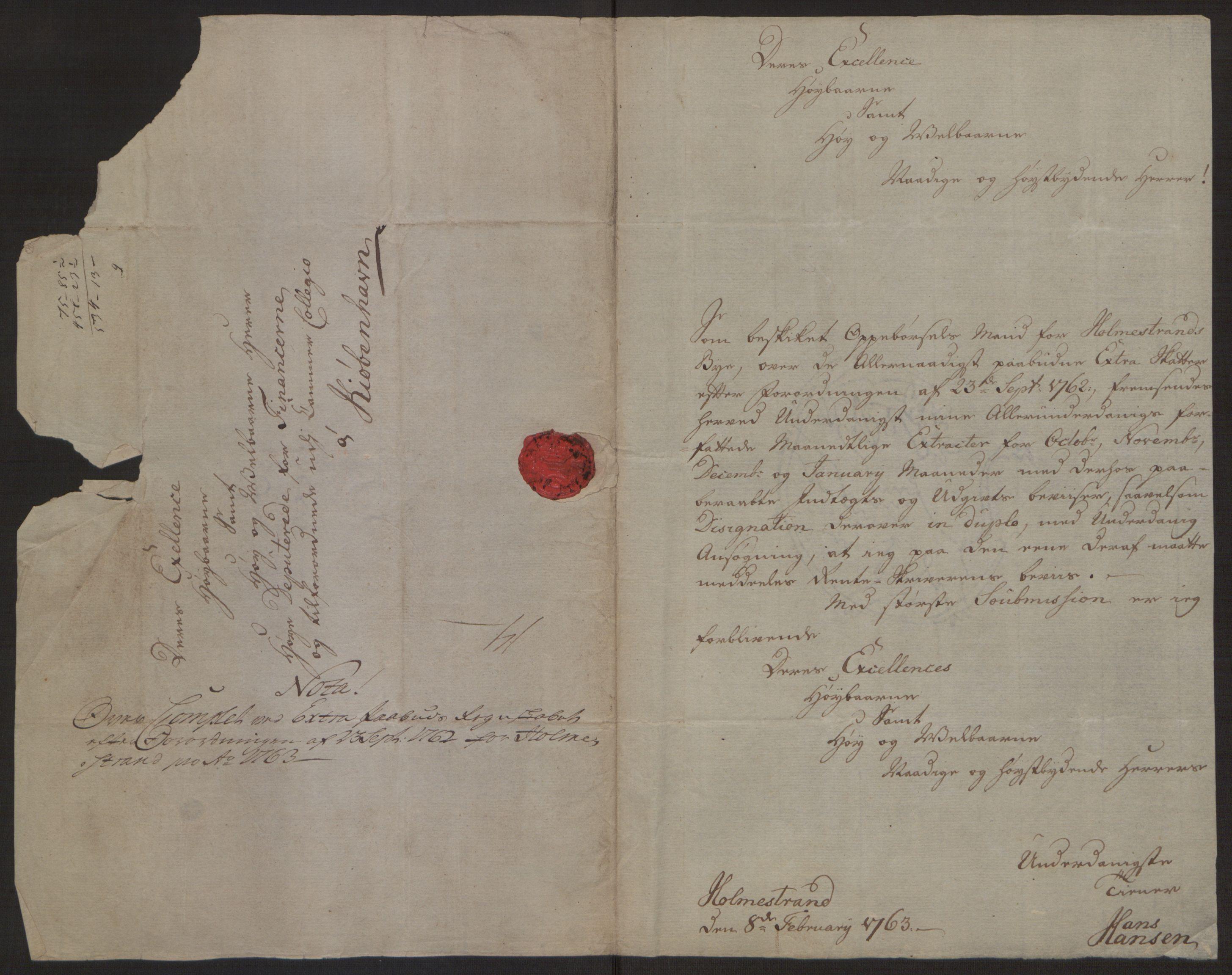RA, Rentekammeret inntil 1814, Reviderte regnskaper, Byregnskaper, R/Rh/L0163: [H4] Kontribusjonsregnskap, 1762-1772, s. 88