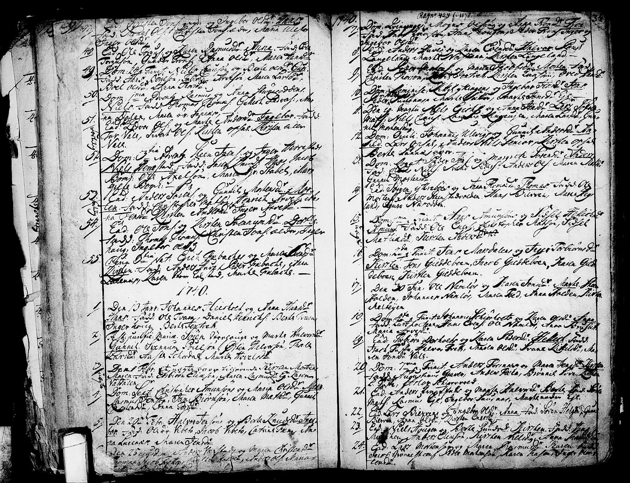 SAKO, Holla kirkebøker, F/Fa/L0001: Ministerialbok nr. 1, 1717-1779, s. 34