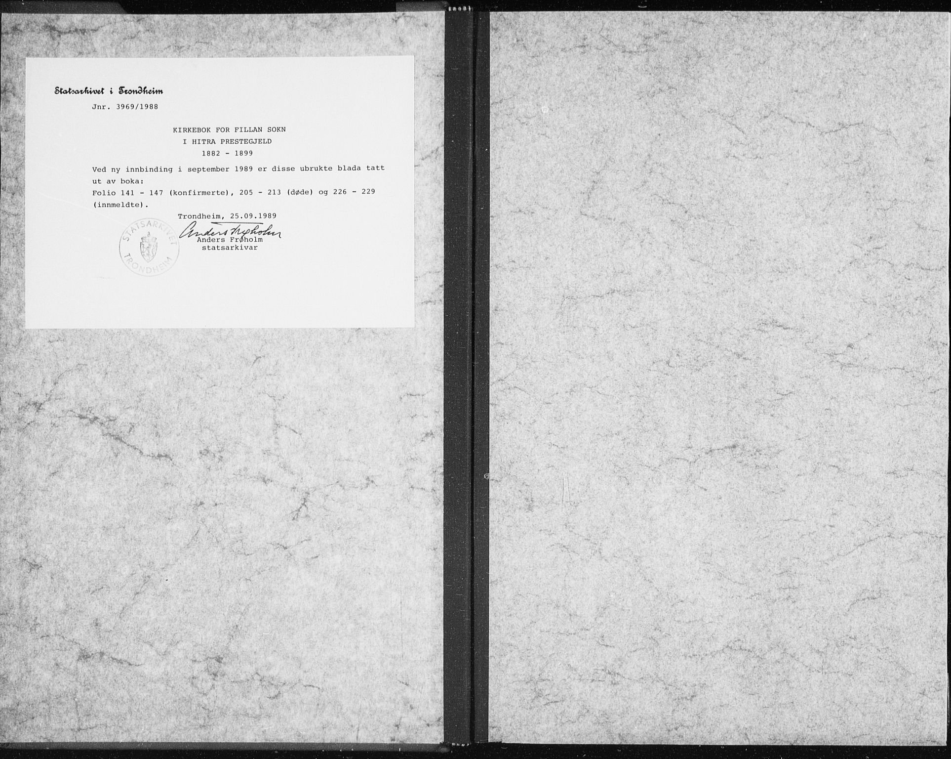 SAT, Ministerialprotokoller, klokkerbøker og fødselsregistre - Sør-Trøndelag, 637/L0558: Ministerialbok nr. 637A01, 1882-1899
