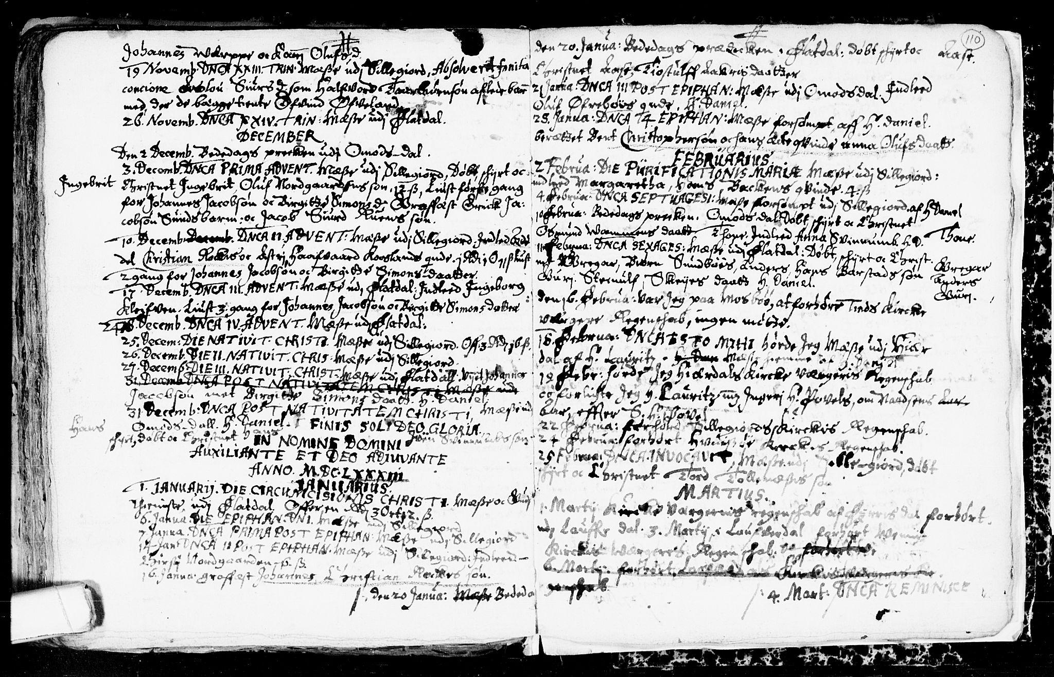 SAKO, Seljord kirkebøker, F/Fa/L0001: Ministerialbok nr. I 1, 1654-1686, s. 110