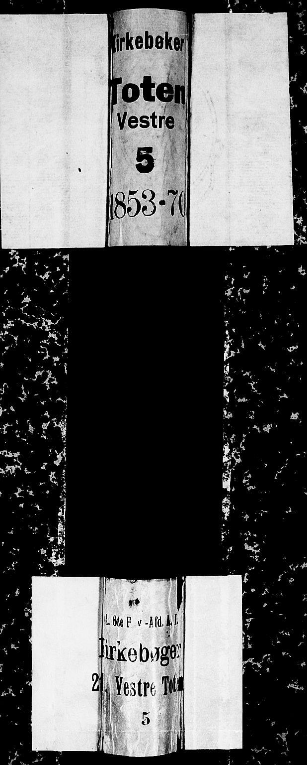 SAH, Vestre Toten prestekontor, H/Ha/Hab/L0005: Klokkerbok nr. 5, 1854-1870