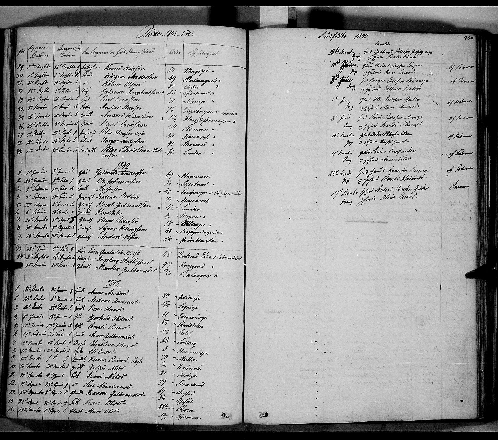 SAH, Jevnaker prestekontor, Ministerialbok nr. 6, 1837-1857, s. 244