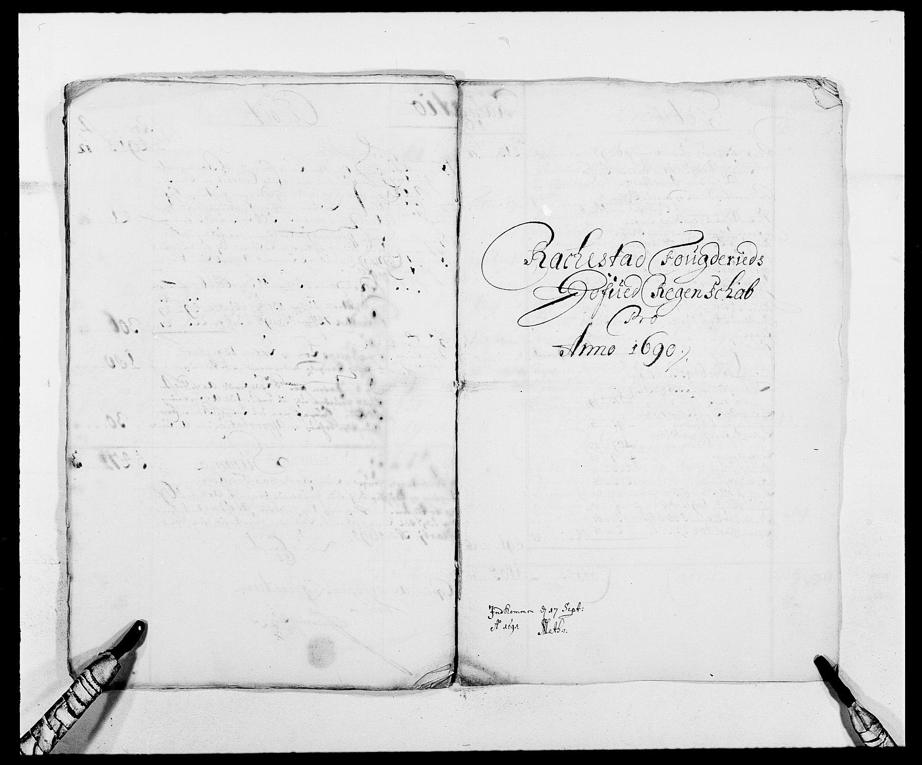 RA, Rentekammeret inntil 1814, Reviderte regnskaper, Fogderegnskap, R05/L0277: Fogderegnskap Rakkestad, 1689-1690, s. 313