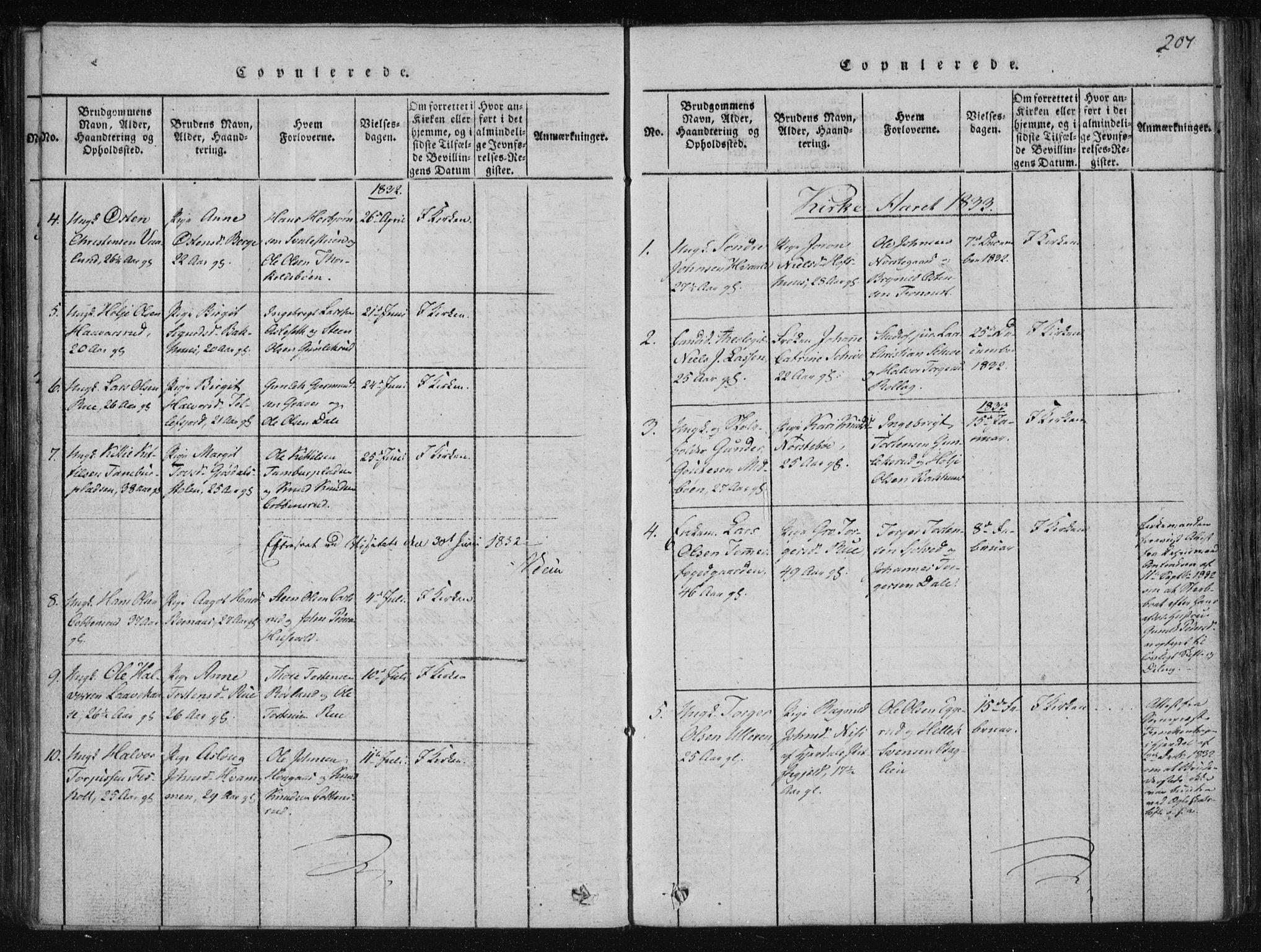 SAKO, Tinn kirkebøker, F/Fa/L0004: Ministerialbok nr. I 4, 1815-1843, s. 207
