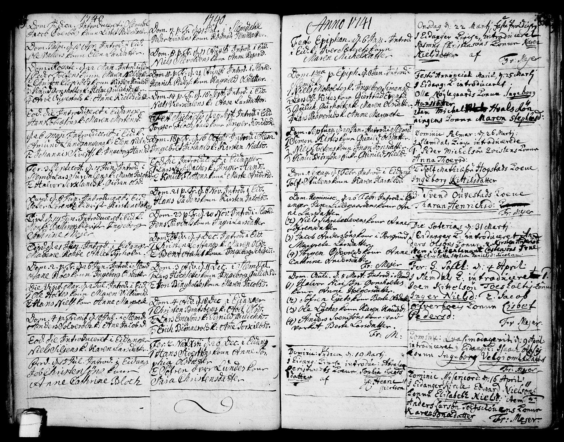 SAKO, Eidanger kirkebøker, F/Fa/L0004: Ministerialbok nr. 4, 1733-1759, s. 329-330