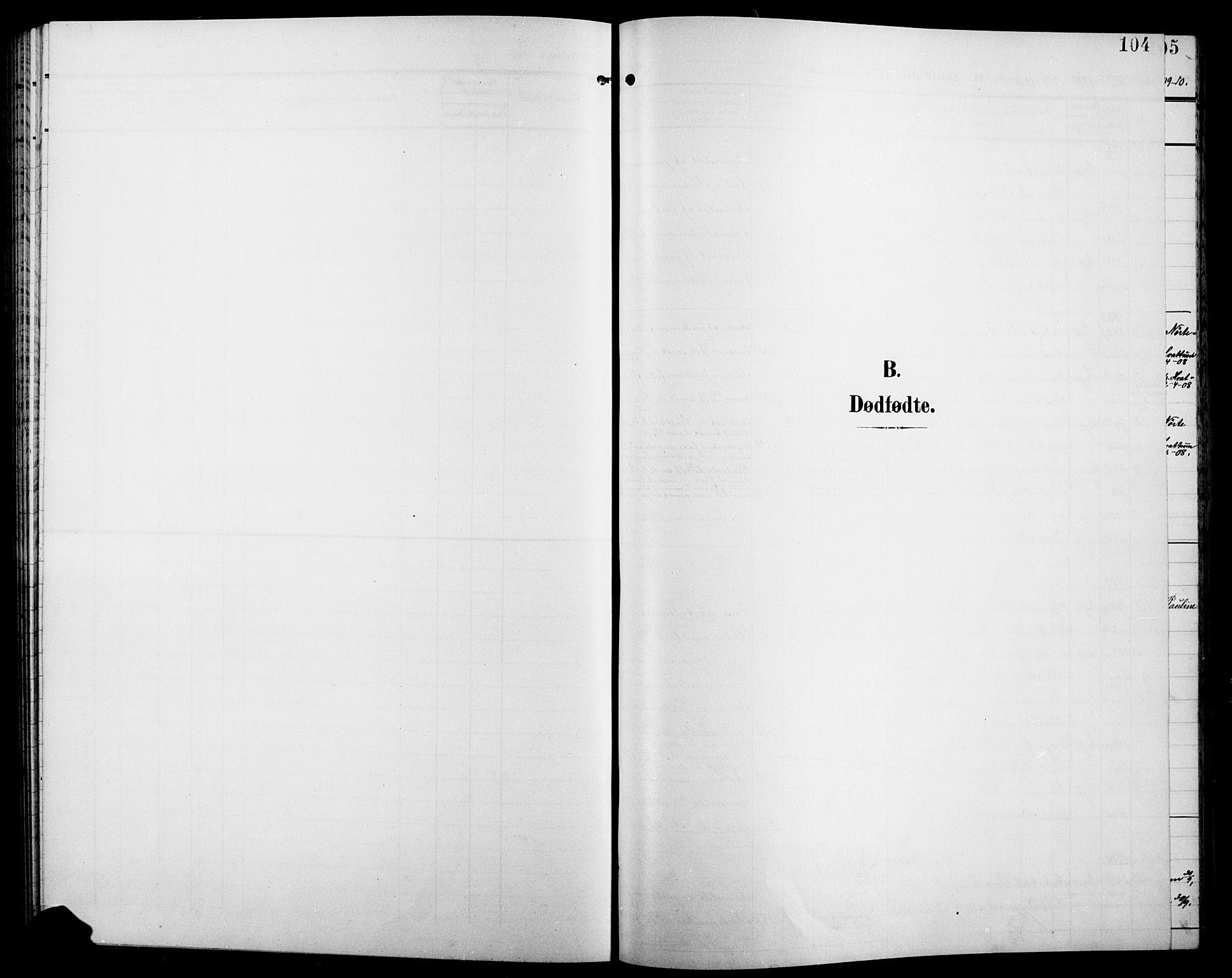 SAH, Jevnaker prestekontor, Klokkerbok nr. 4, 1907-1918, s. 104