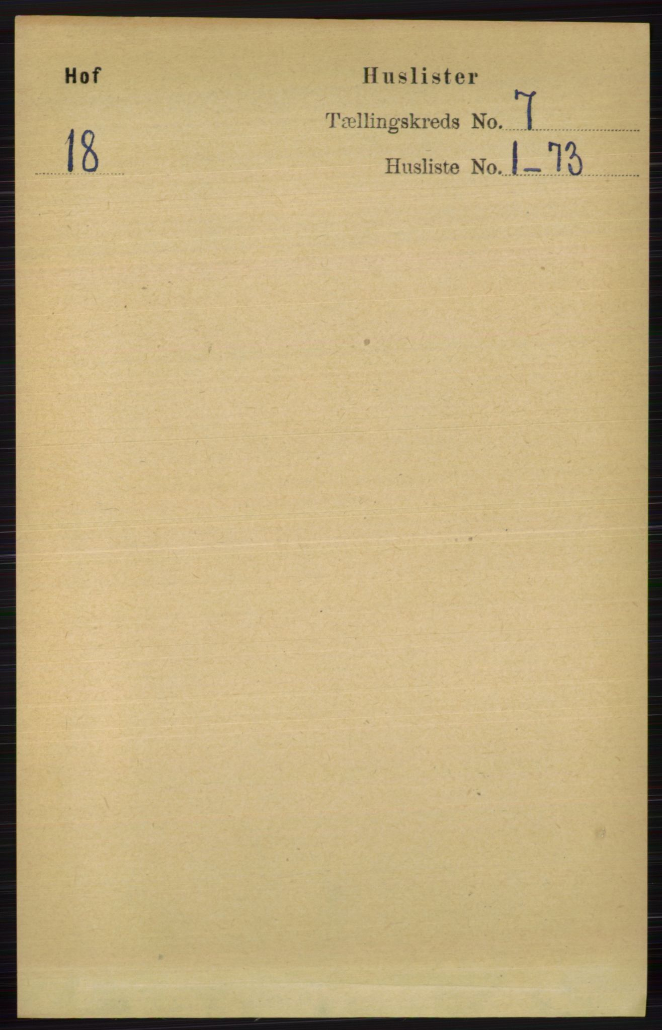 RA, Folketelling 1891 for 0714 Hof herred, 1891, s. 2349