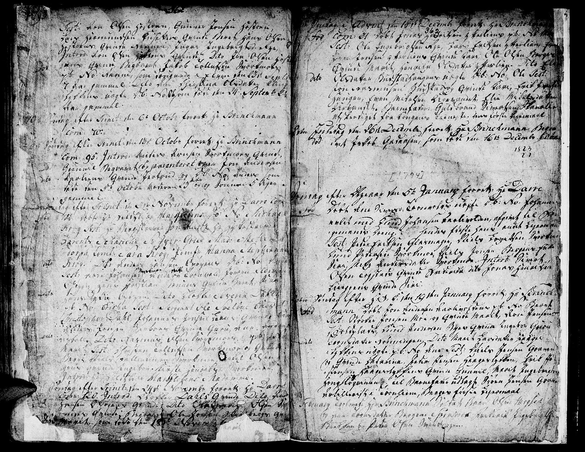 SAT, Ministerialprotokoller, klokkerbøker og fødselsregistre - Sør-Trøndelag, 671/L0840: Ministerialbok nr. 671A02, 1756-1794, s. 362-363