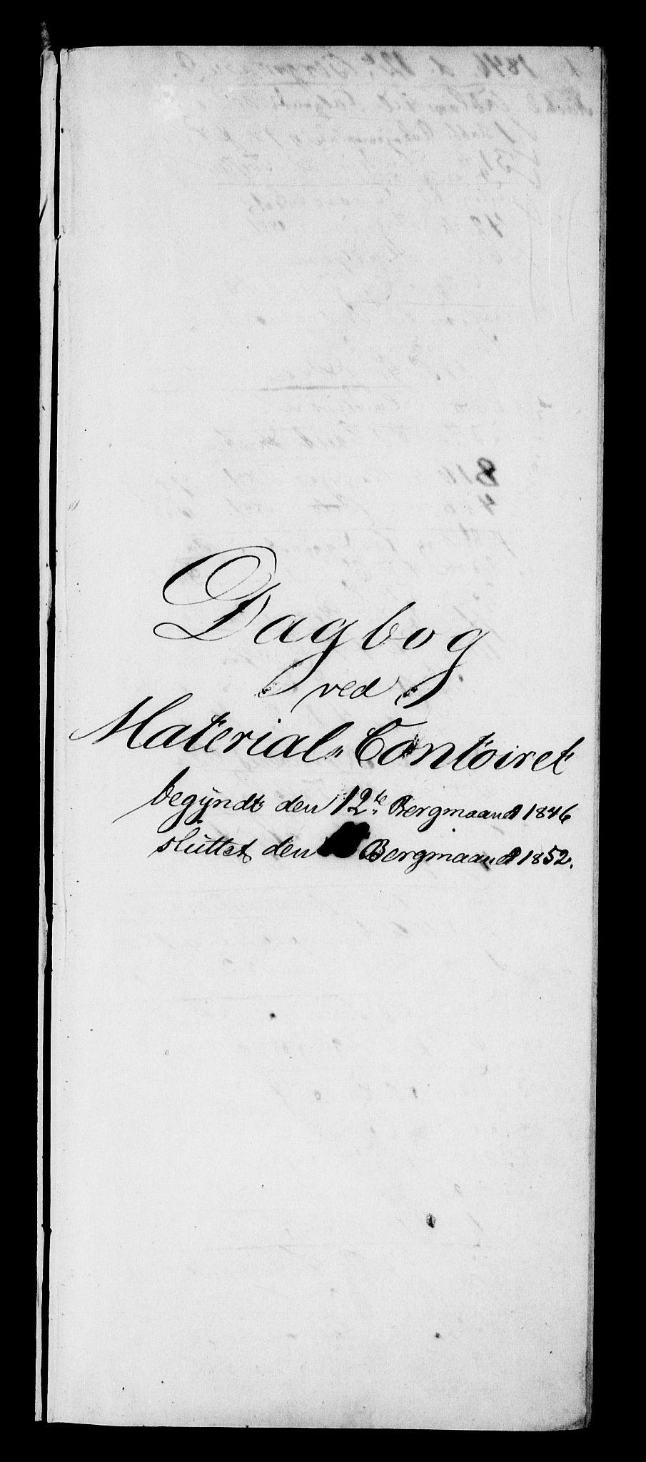 RA, Modums Blaafarveværk, G/Gd/Gdb/L0203: Annotations Bog, Dagbok over inn- og utgående materiale, 1846-1852, s. 2