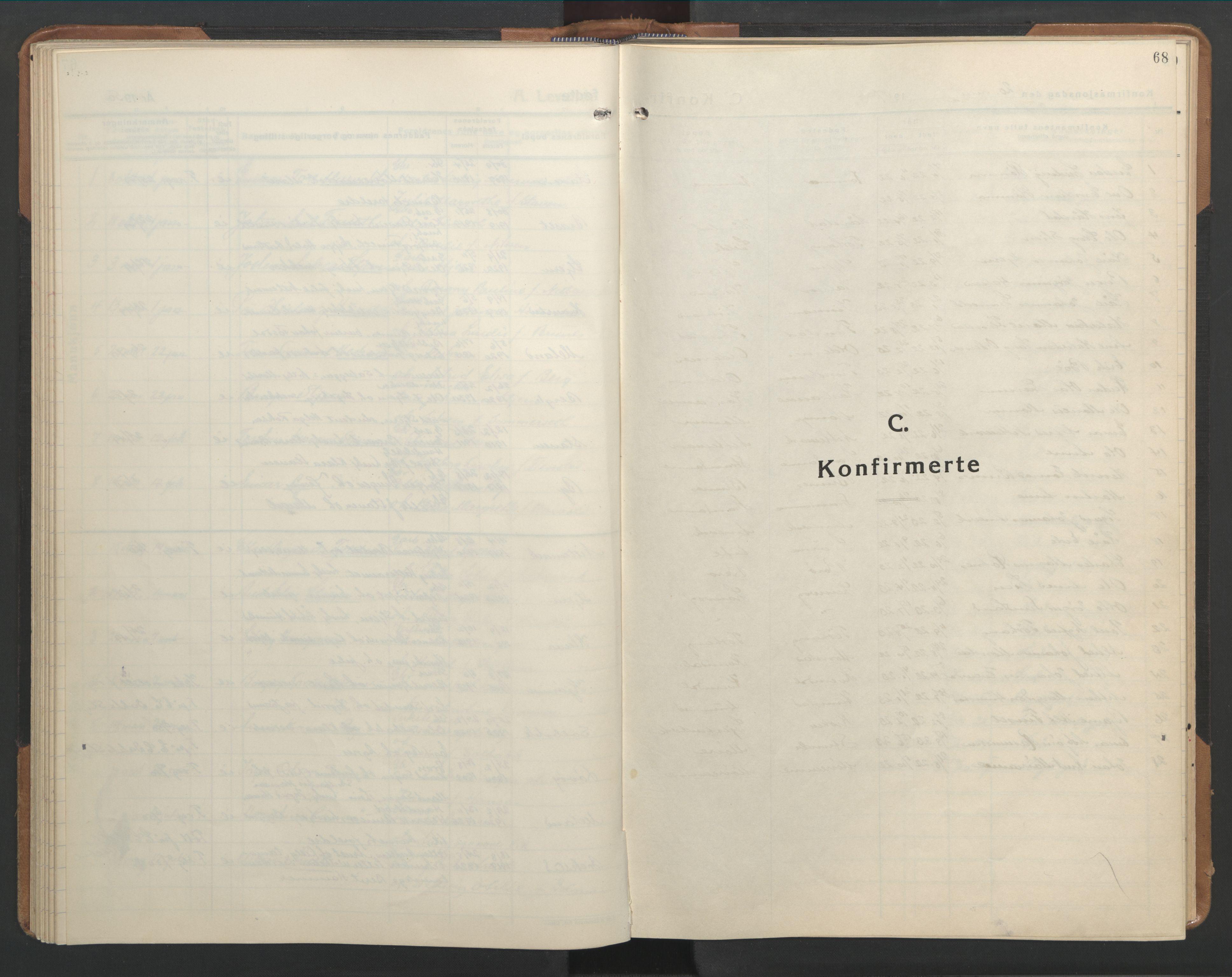 SAT, Ministerialprotokoller, klokkerbøker og fødselsregistre - Sør-Trøndelag, 655/L0690: Klokkerbok nr. 655C06, 1937-1950, s. 68