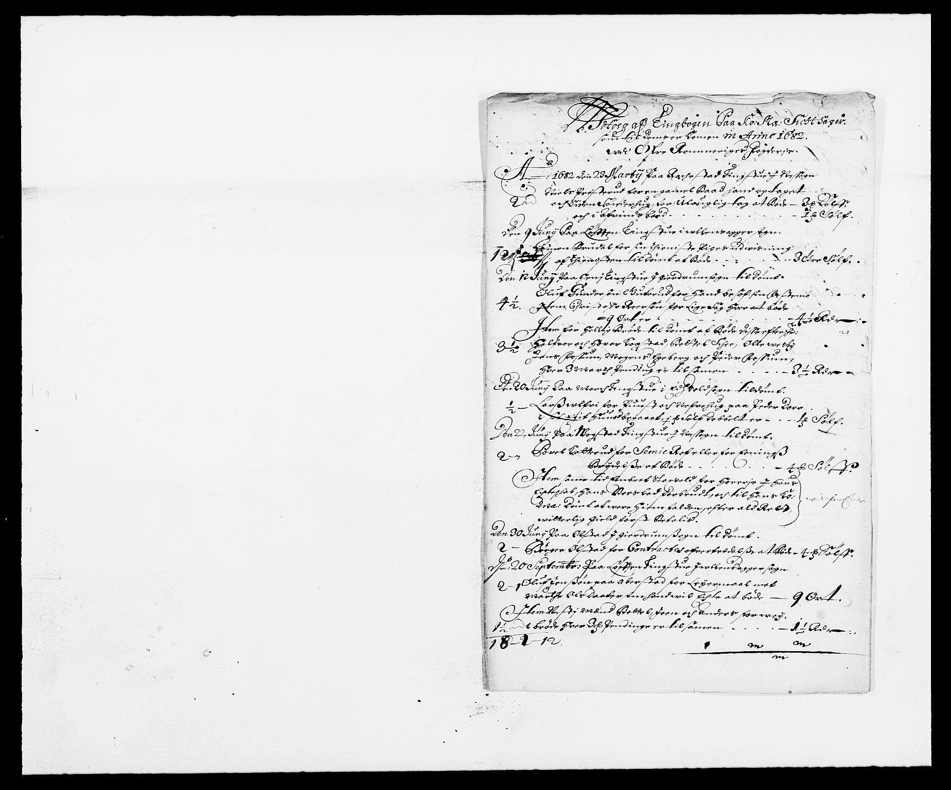 RA, Rentekammeret inntil 1814, Reviderte regnskaper, Fogderegnskap, R12/L0697: Fogderegnskap Øvre Romerike, 1682-1683, s. 94