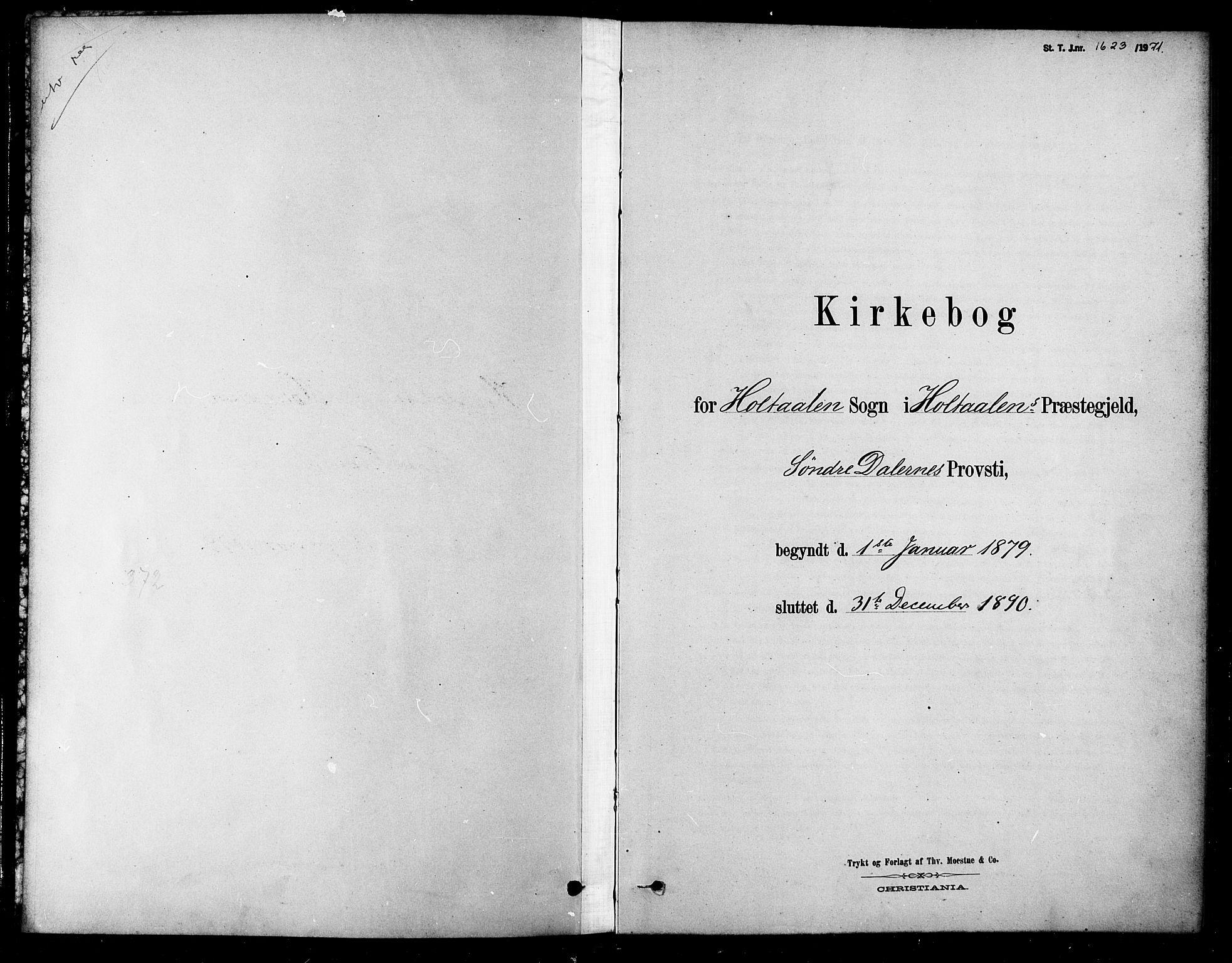 SAT, Ministerialprotokoller, klokkerbøker og fødselsregistre - Sør-Trøndelag, 685/L0972: Ministerialbok nr. 685A09, 1879-1890