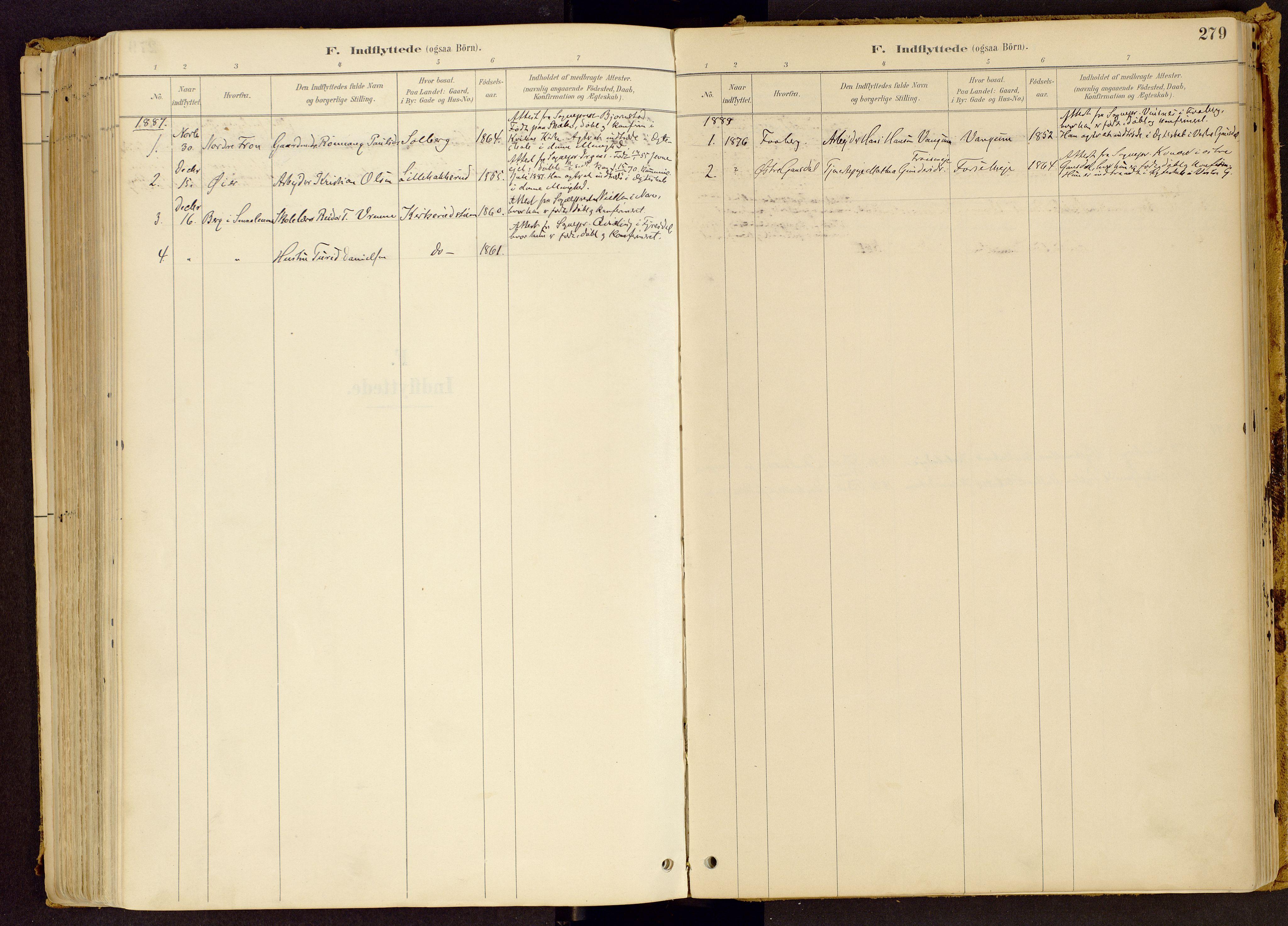 SAH, Vestre Gausdal prestekontor, Ministerialbok nr. 1, 1887-1914, s. 279