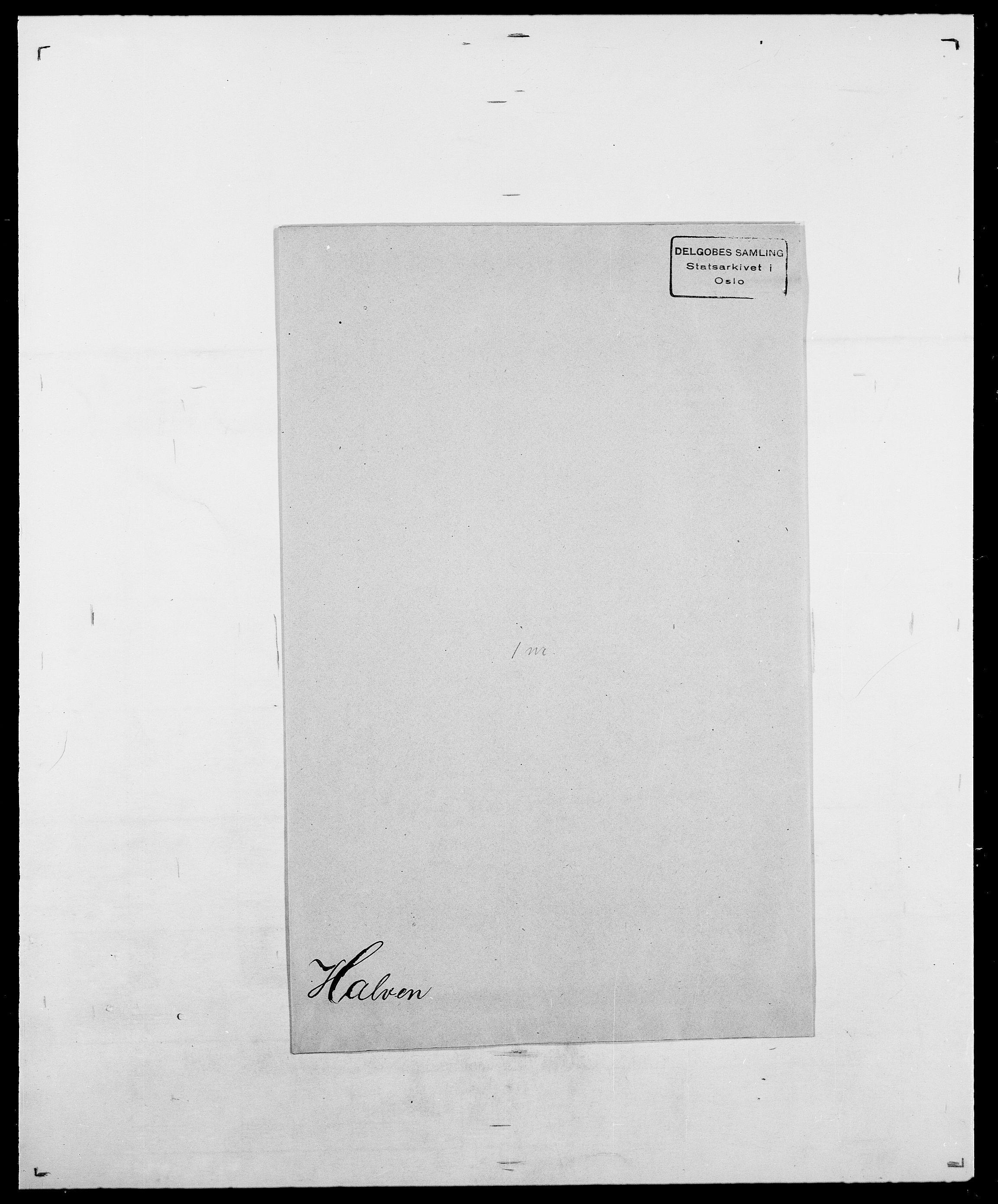 SAO, Delgobe, Charles Antoine - samling, D/Da/L0015: Grodtshilling - Halvorsæth, s. 830