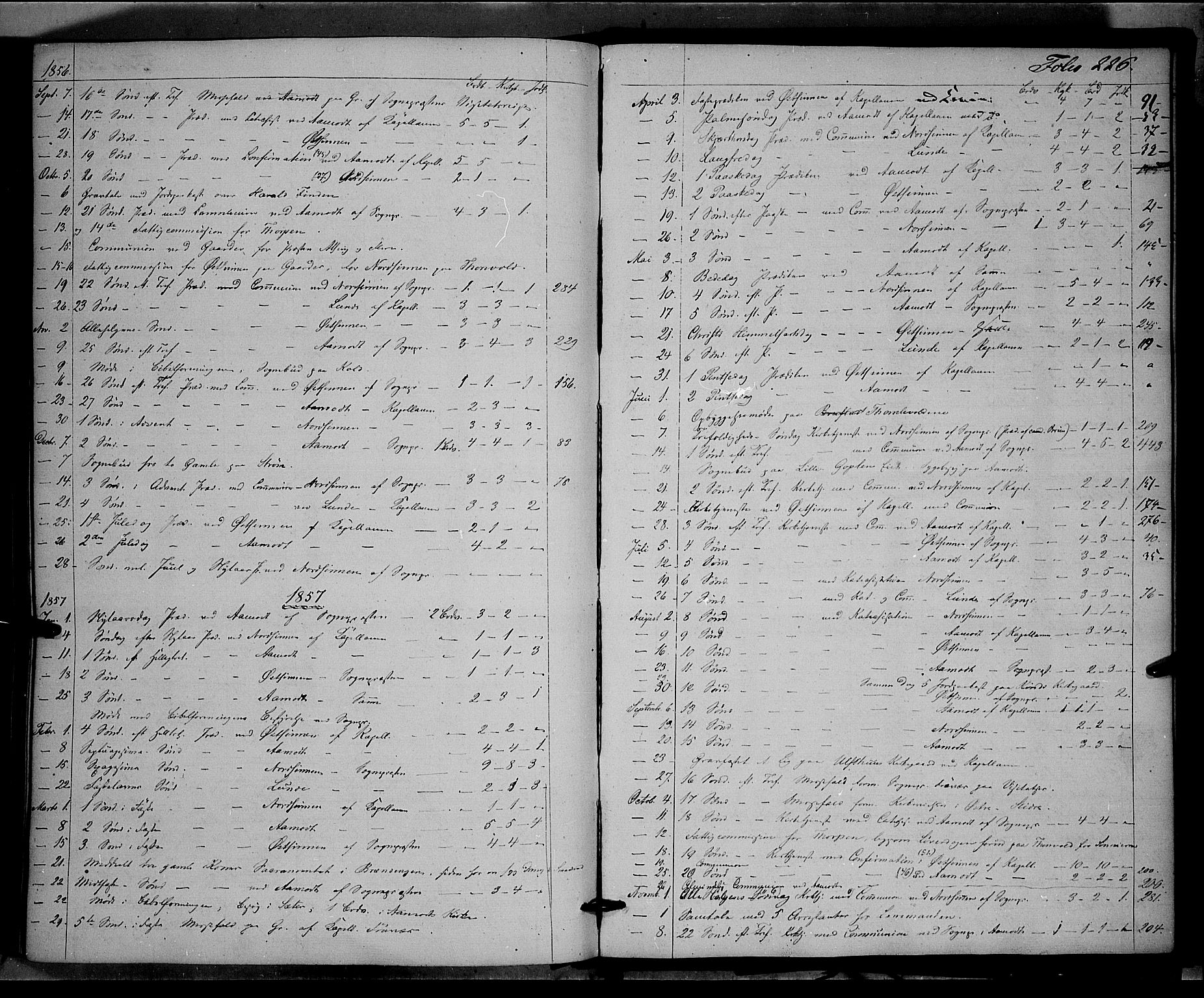 SAH, Land prestekontor, Ministerialbok nr. 10, 1847-1859, s. 226